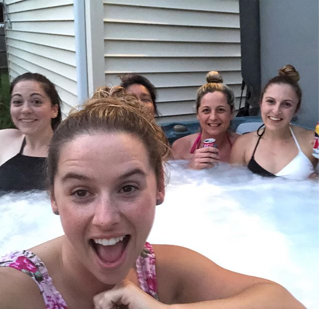 Lady Soup 🍜 #girlsnight #hottub #bitchesandbubbles