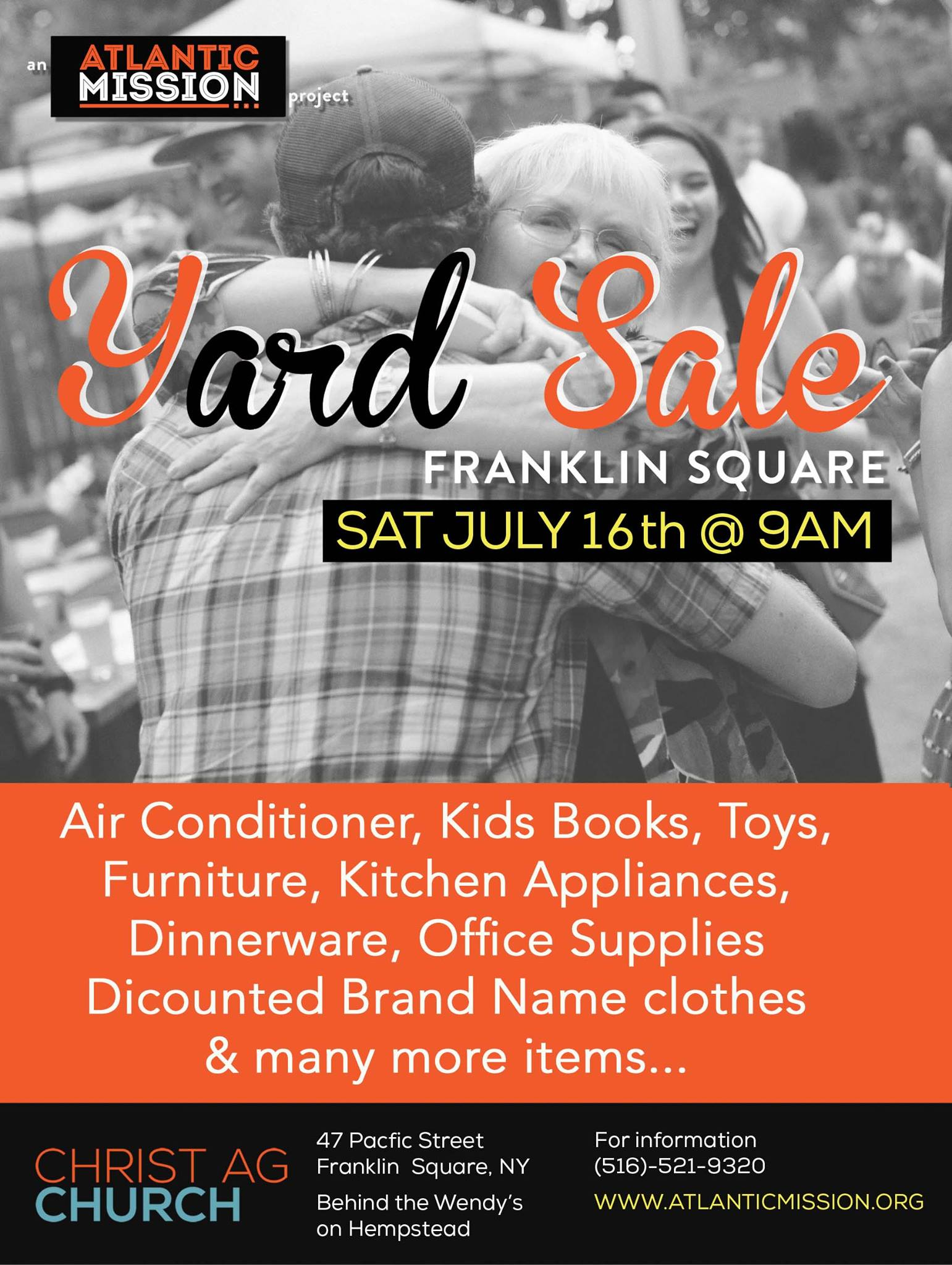 Dear Community & Friends we are excited to host our Summer Yard Sale event. Please bring family and friends all items must go for low prices. New unused clothes and kitchen items and many more. 16 Jul Sat 9 a.m-5 p.m