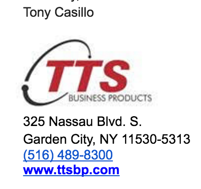 Tony is the owner of the company and has worked with us several times. His email is acasillo@ttsbp.com