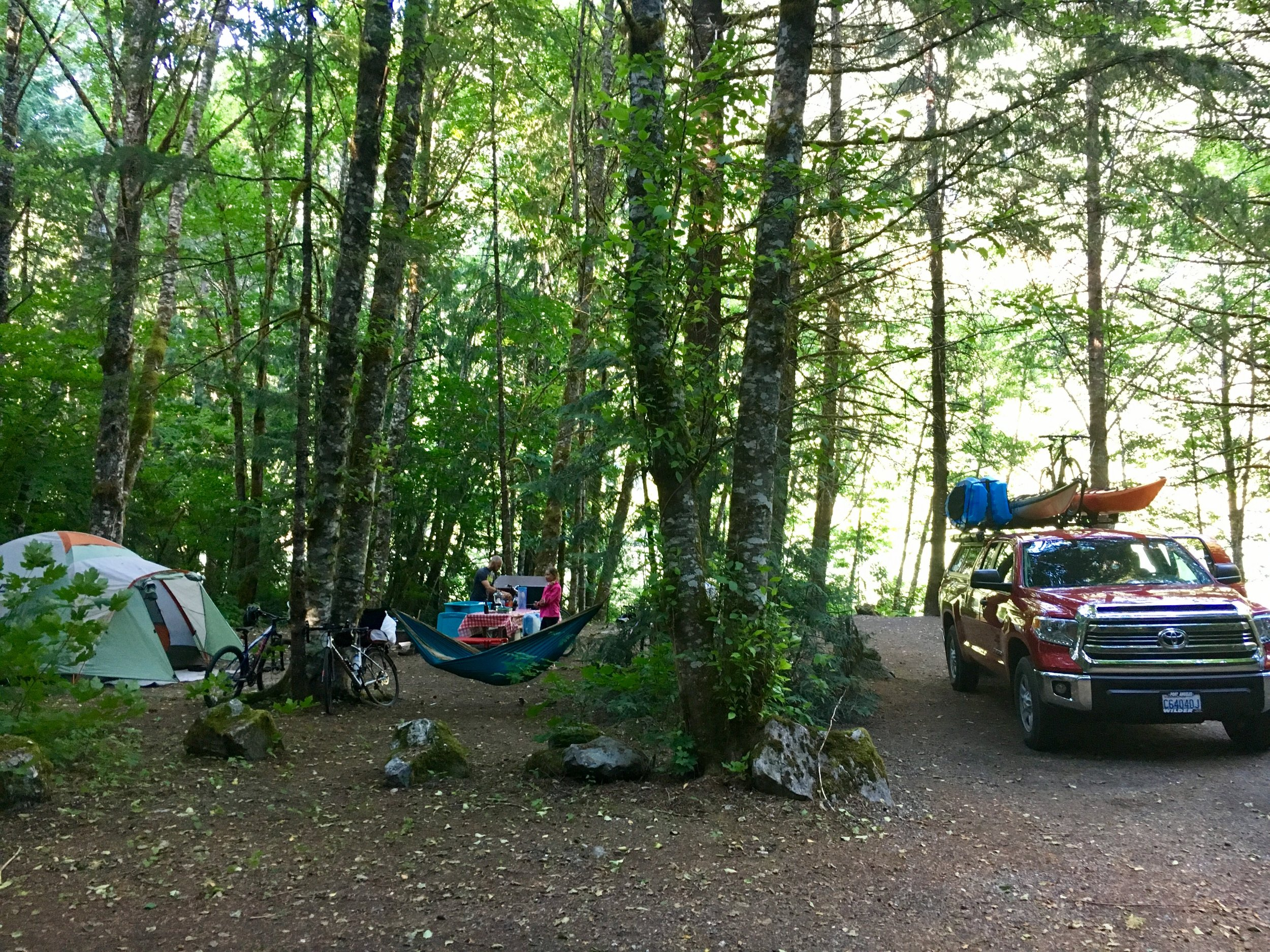 First night of camping on Lake Diablo, Colonial Creek Campground.