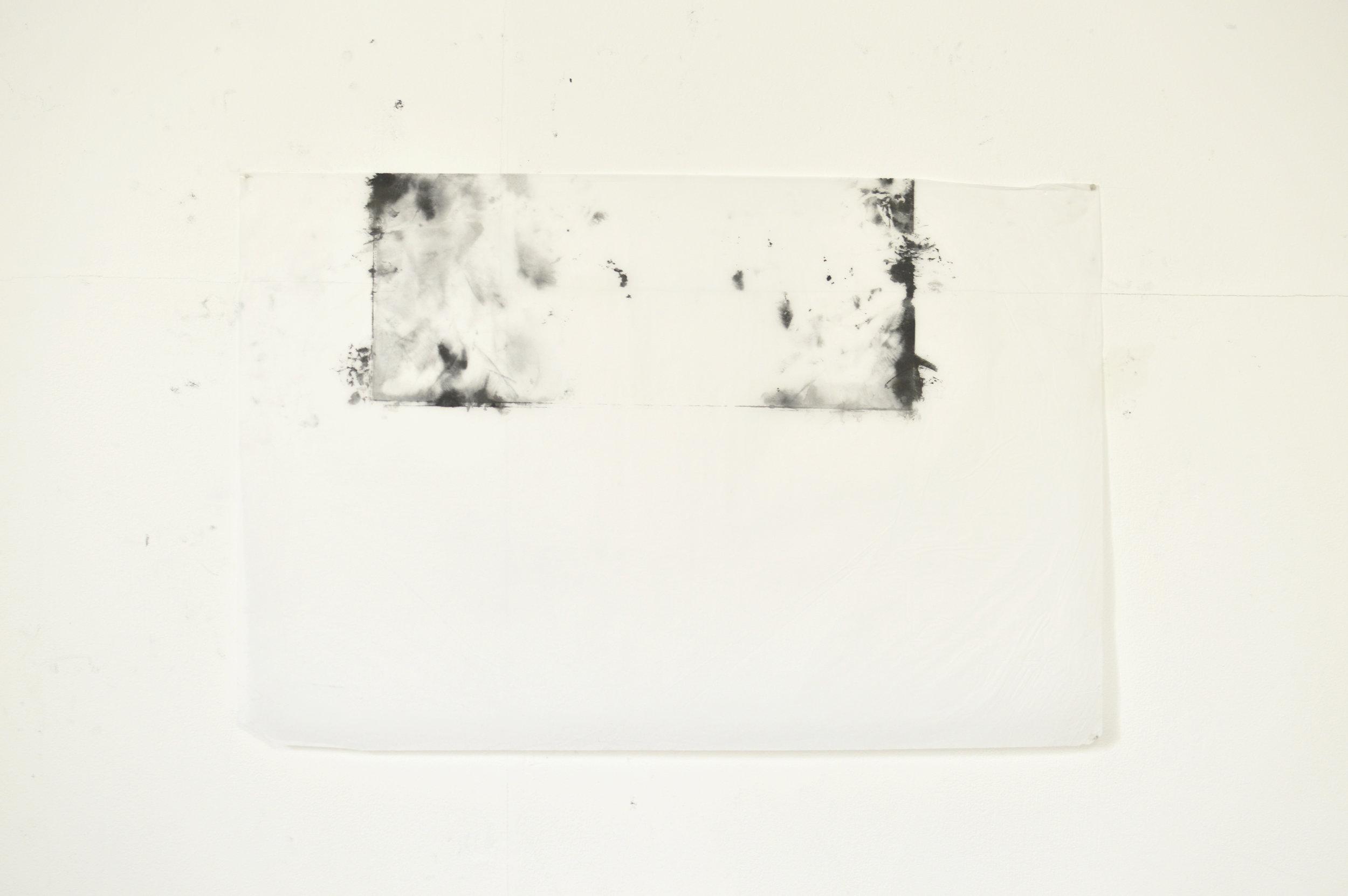 Tissue paper, pigment, copperplate oil, white spirit  75cm x 49cm