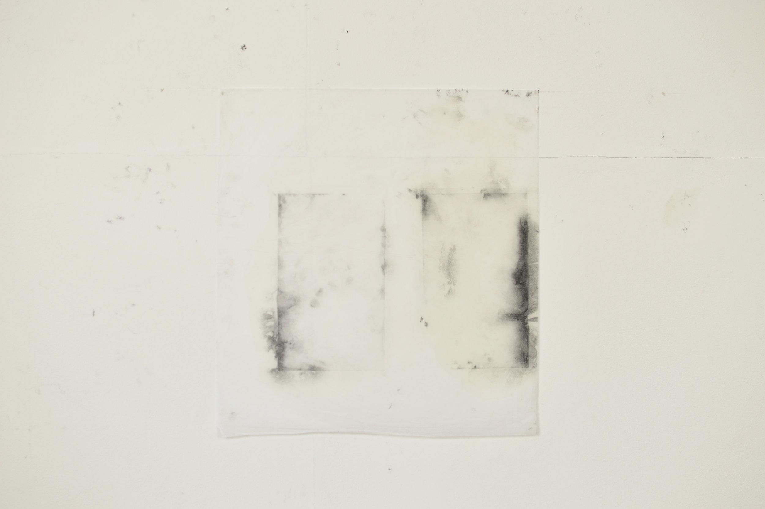 Tissue paper, pigment, copperplate oil, white spirit  70cm x 56cm