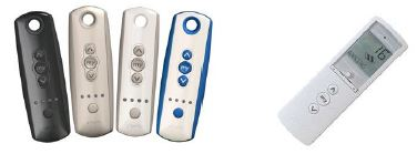 Many remote options from Somfy.