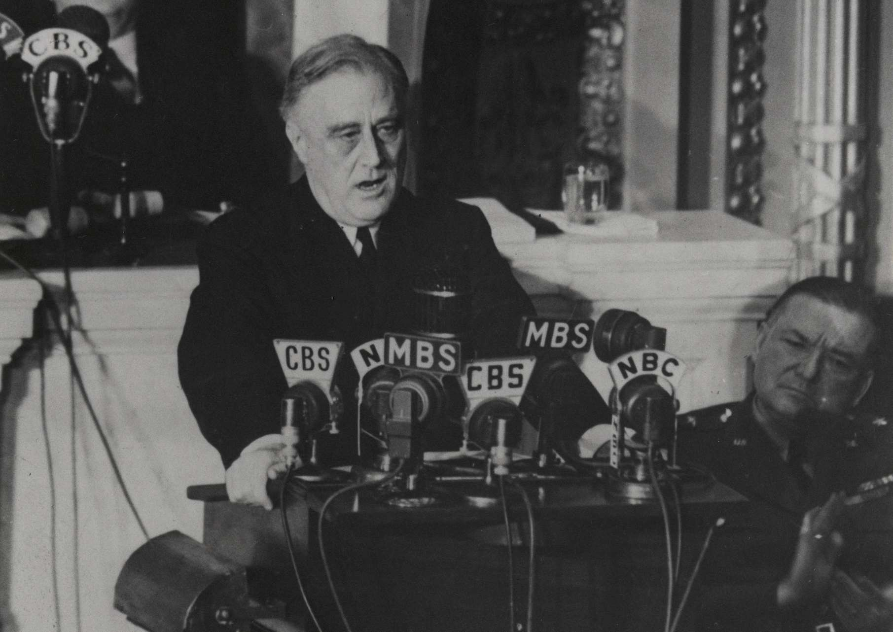 President Roosevelt delivering the Four Freedoms speech, January 6, 1941.