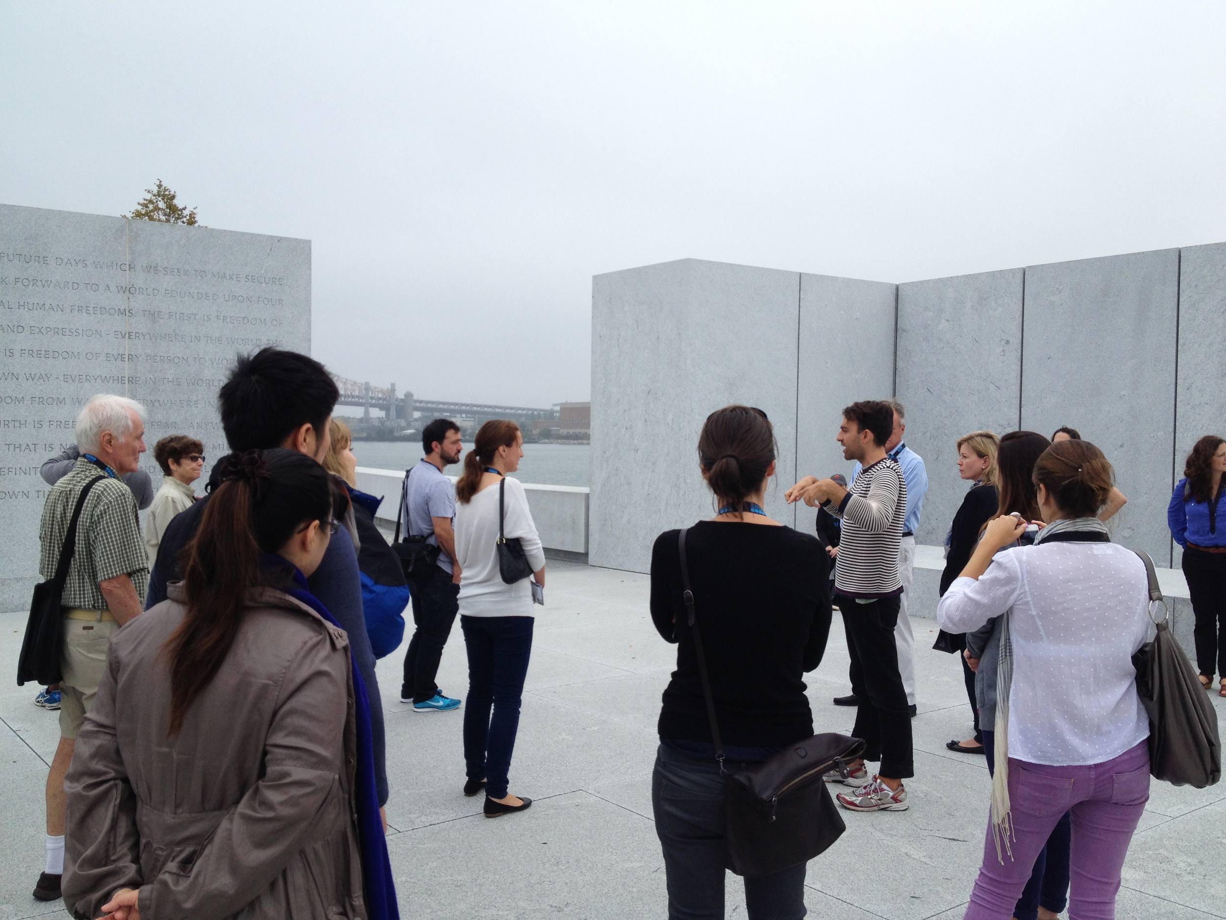 The tour continued to the Room where Stephen described Louis Kahn's design of the Room.