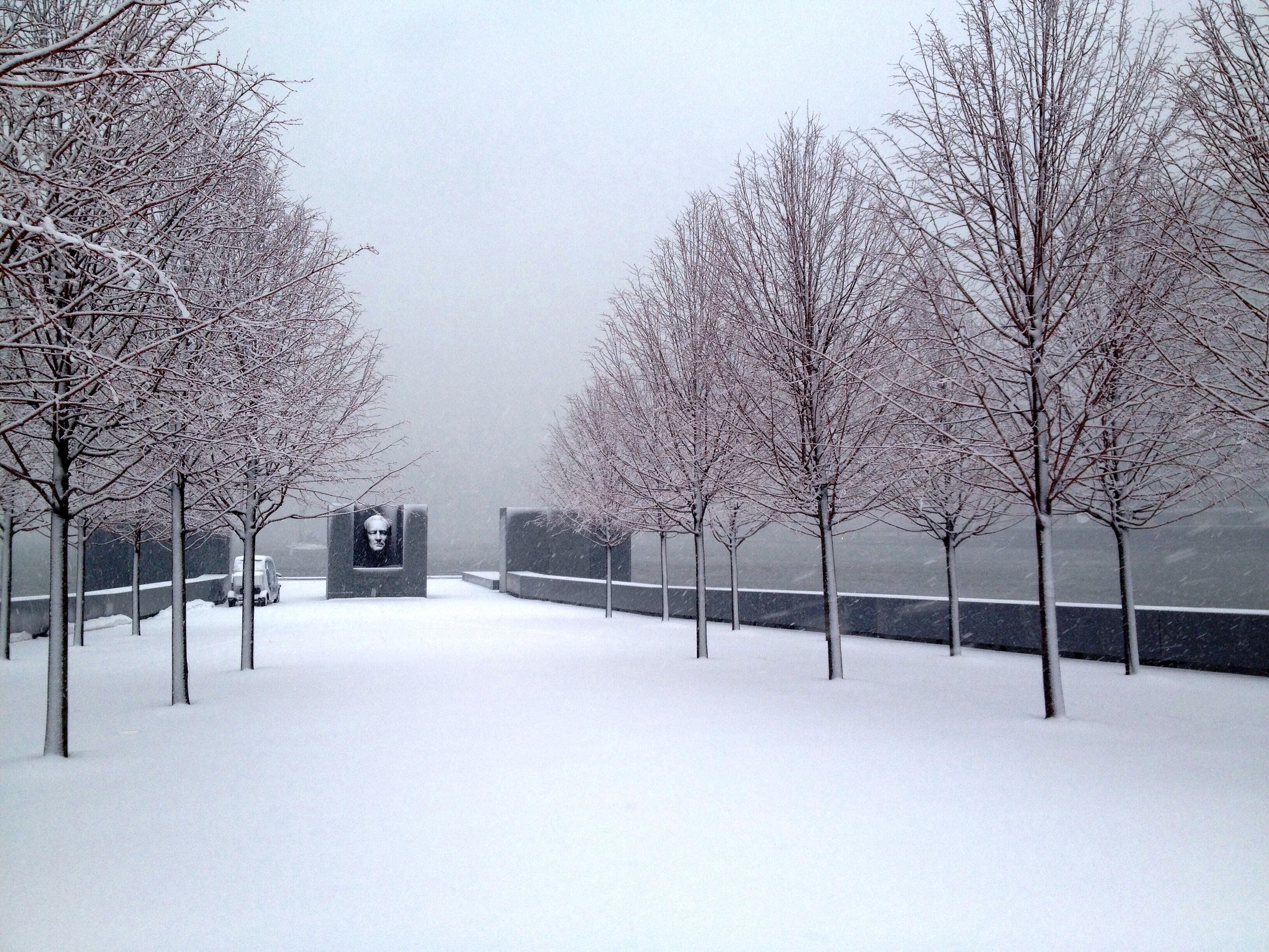 The Park on a snowy day this winter.