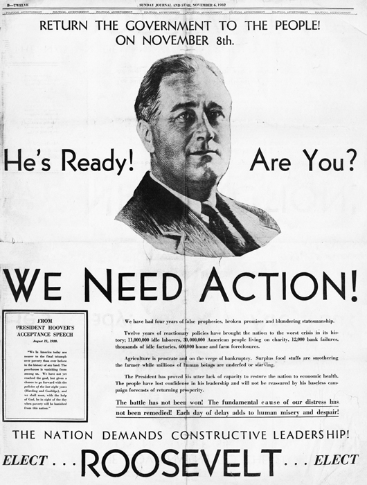Roosevelt Campaign Poster