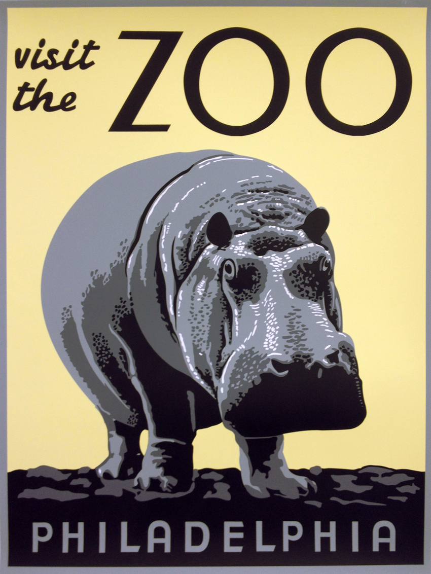 Visit the Zoo: Philadelphia. Artist unknown, Pennsylvania, ca. 1936-41