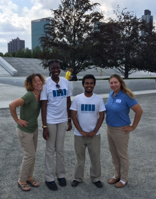 Left to right: Director of Visitor Services, Lizette DeJesus, Fatima, Jamil, and Park Operations Manager, Angela Stangenberg.
