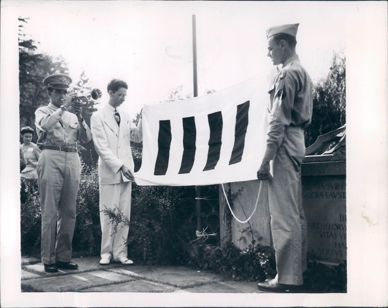 Flag presented at official ceremony