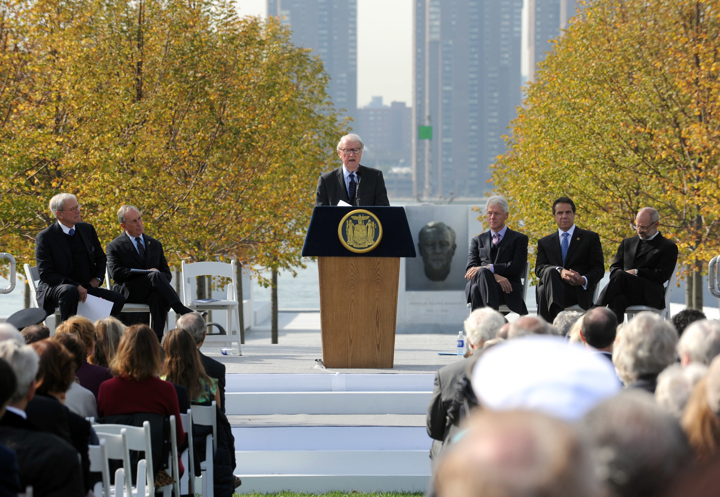 Ambassador vanden Heuvel at the podium.Photo by Diane Bondareff