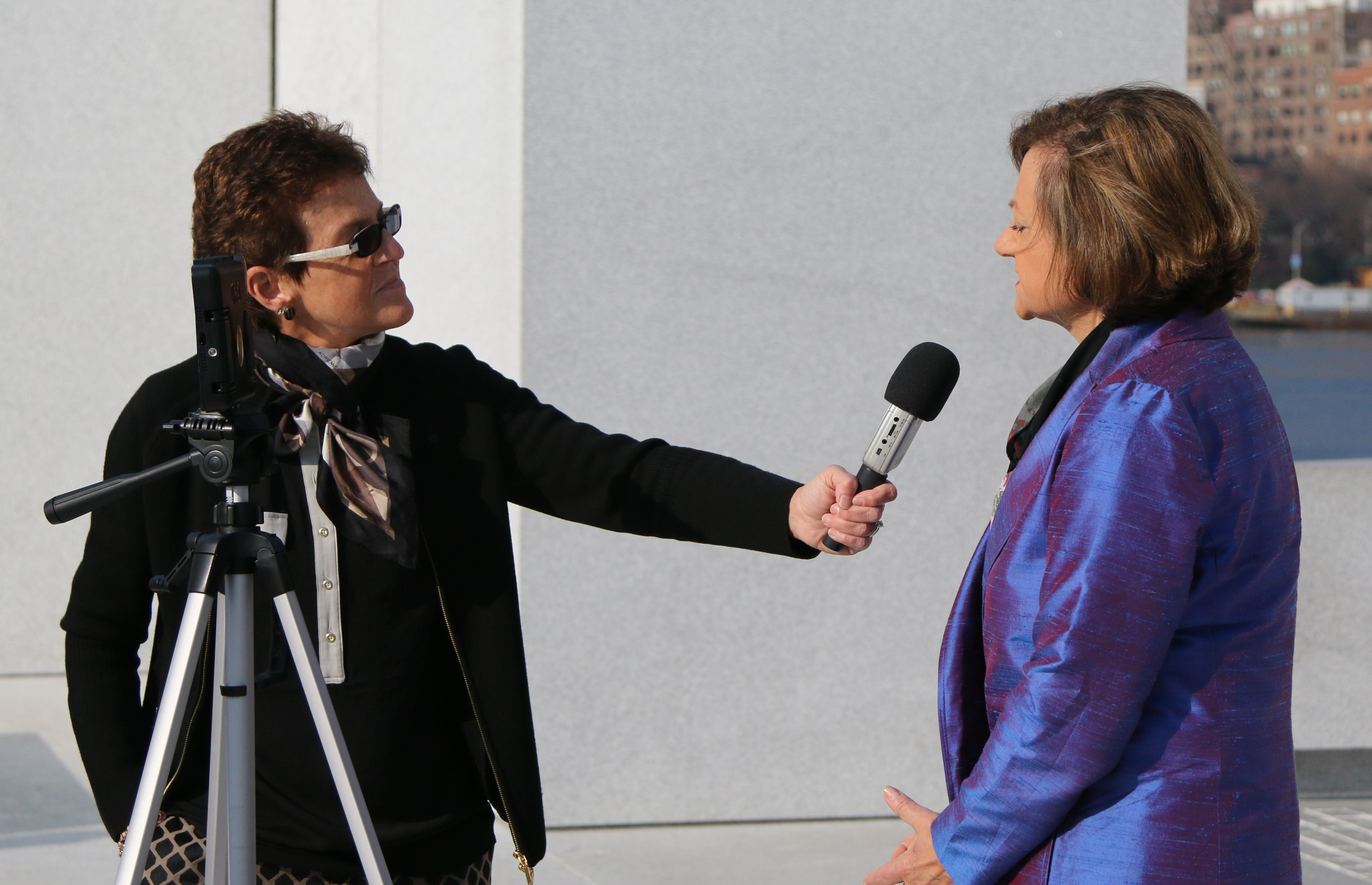 Cristina Gallach, UN Under-Secretary-General for Communications and Public Information is interviewed