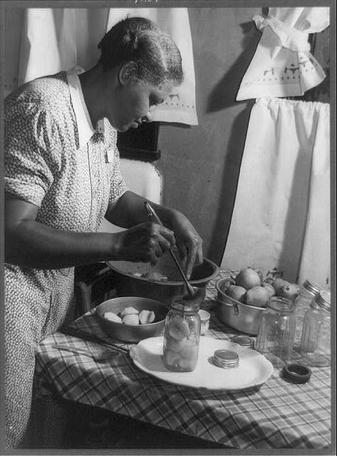 Mrs. Frank Jacobs likes to can fruits and vegetables, Madison County, Alabama