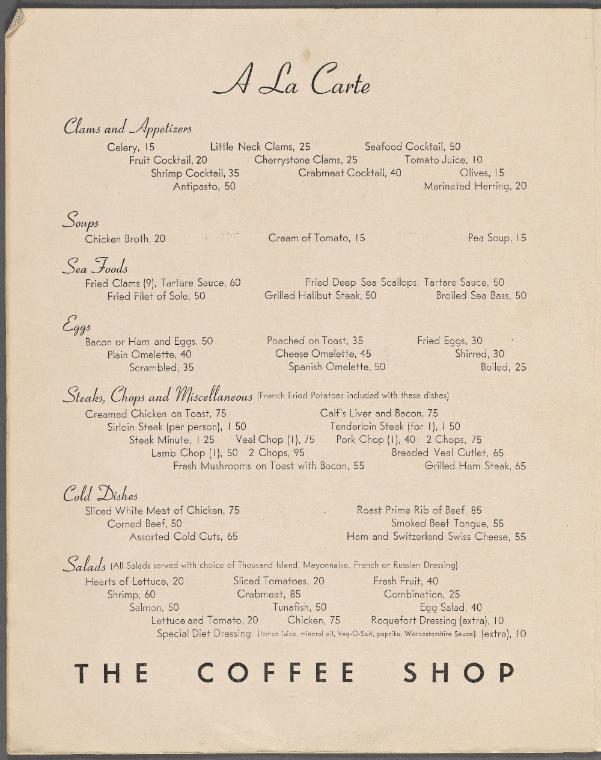 The Coffee Shop at La Guardia Field