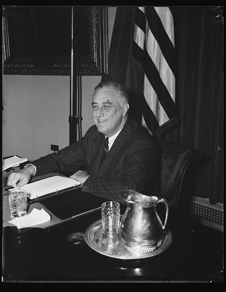FDR on his 58th birthday, January 30, 1940. Courtesy, LOC