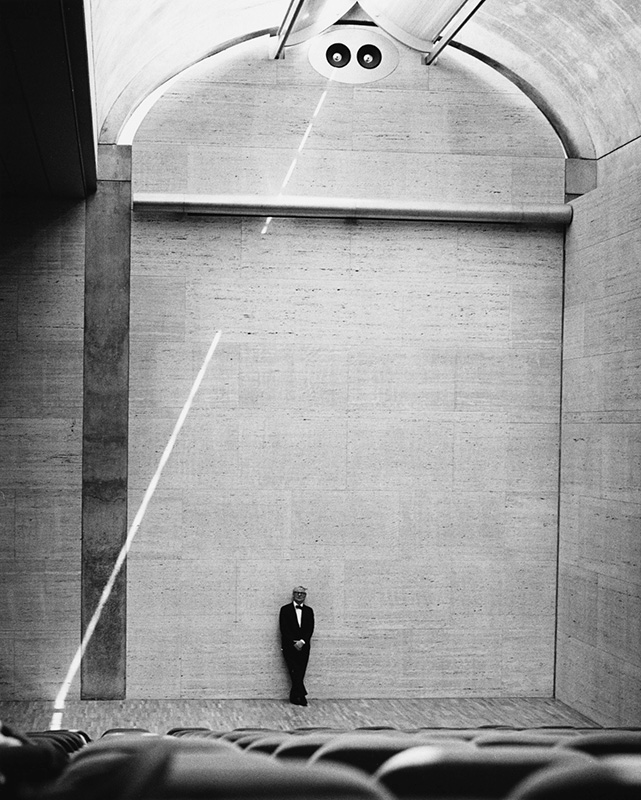 Louis Kahn in the Kimbell Art Museum in Fort Worth, Texas, opened to the public in 1972.