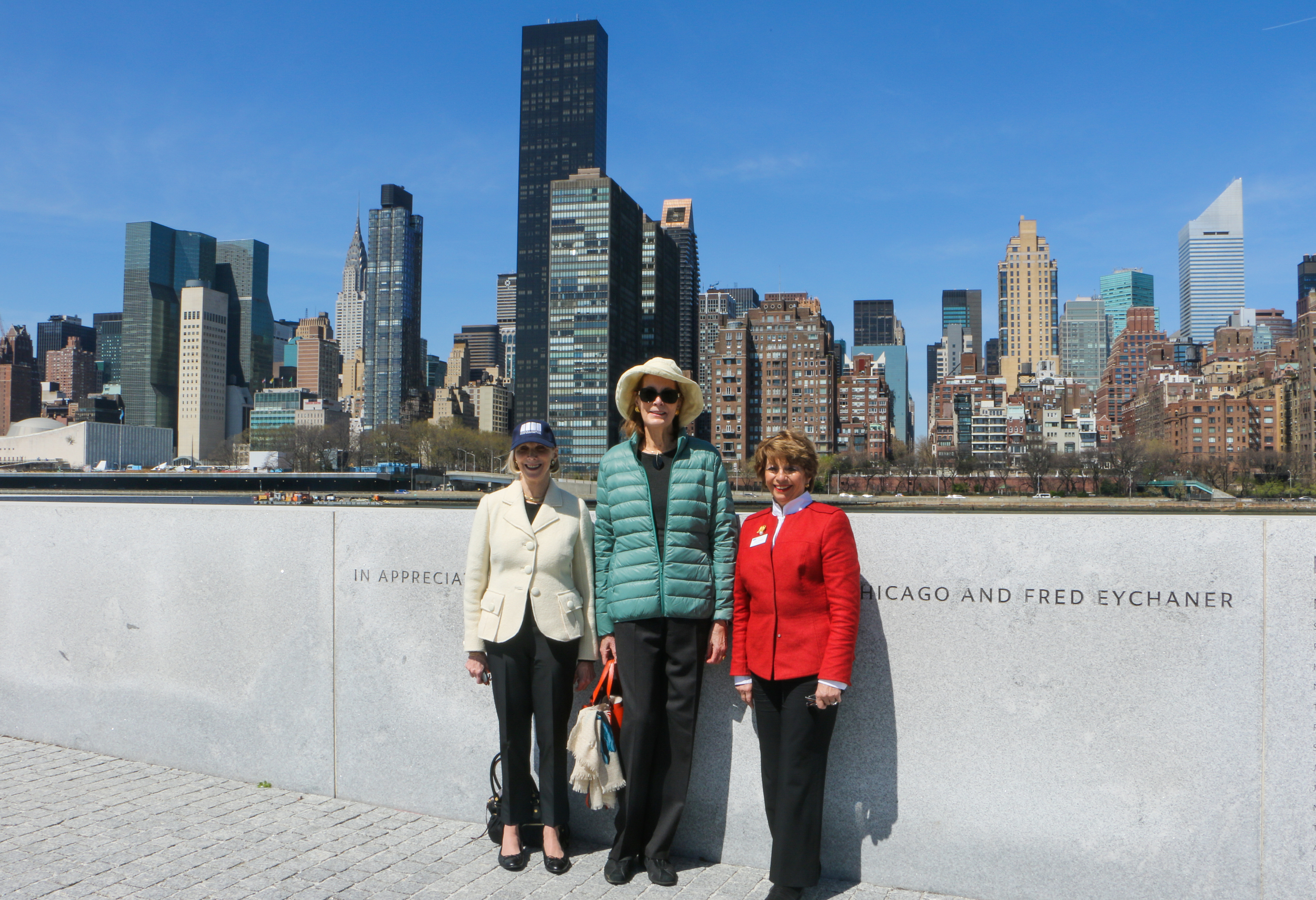 Conservancy board members (from left to right): Barbara Georgescu, Mrs. Franklin D. Roosevelt, Jr., and Sally Minard