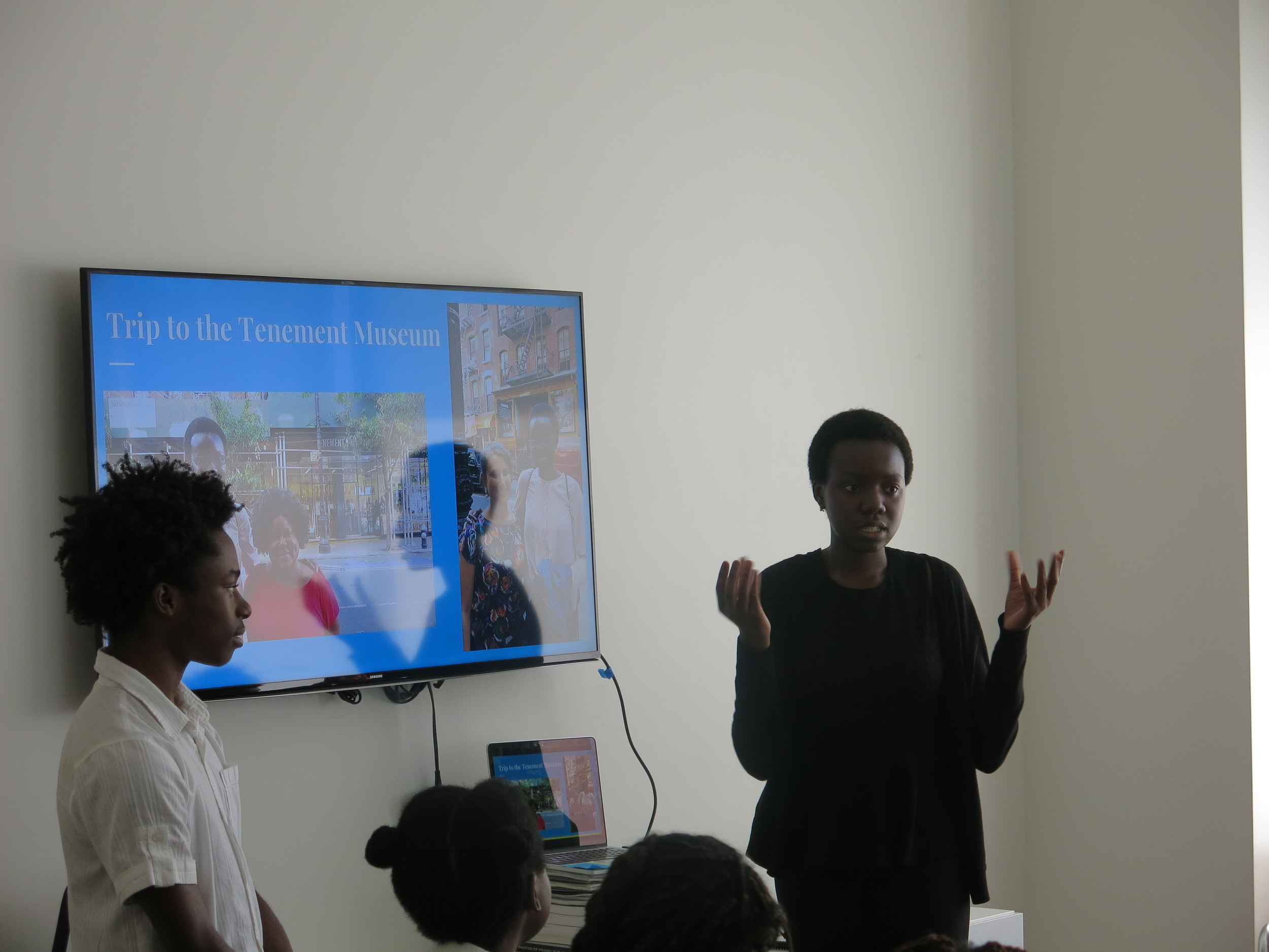 As part of their internship, Isaiah and Marie visit cultural institutions around the city, including the Tenement Museum. Here, they talk about what that experience was like.