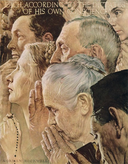 Freedom of Worship by Norman Rockwell