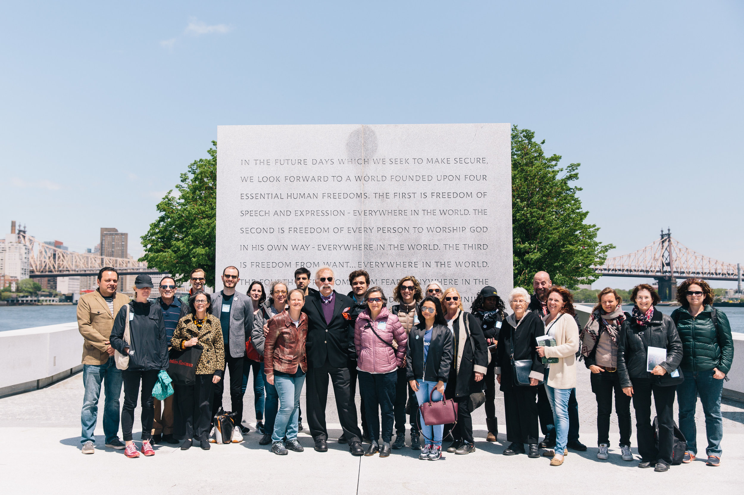 Jane's Walk 2017 participants at FDR Four Freedoms Park.  Photo Credit: Rowa Lee.