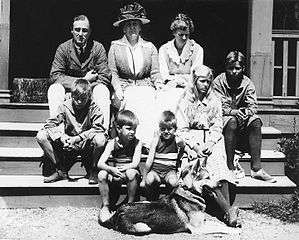 FDR and family at Campobello in 1920, a year before he would contract polio.