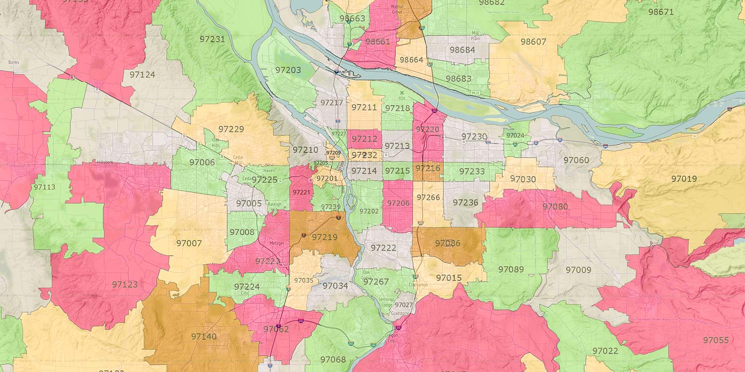 Portland Or Zip Code Map Realtor Portland, OR — View Zip Code Map for Portland Metro Area
