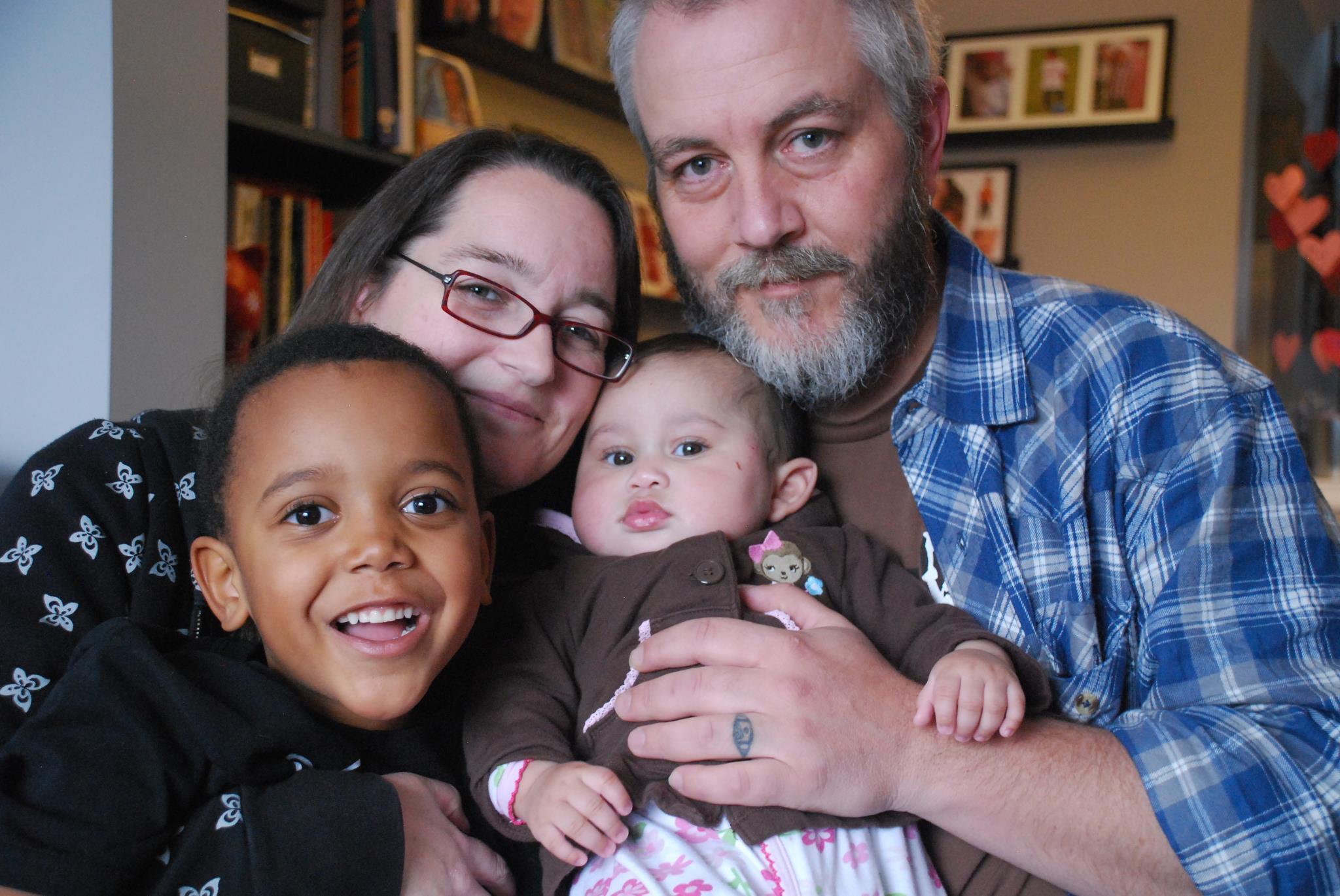 Our adoption day family photo