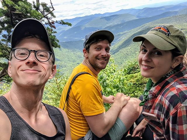 Went on an amazing hike with two of my best friends! Here's one from the top of the mountain. Not a bad lunch view!
