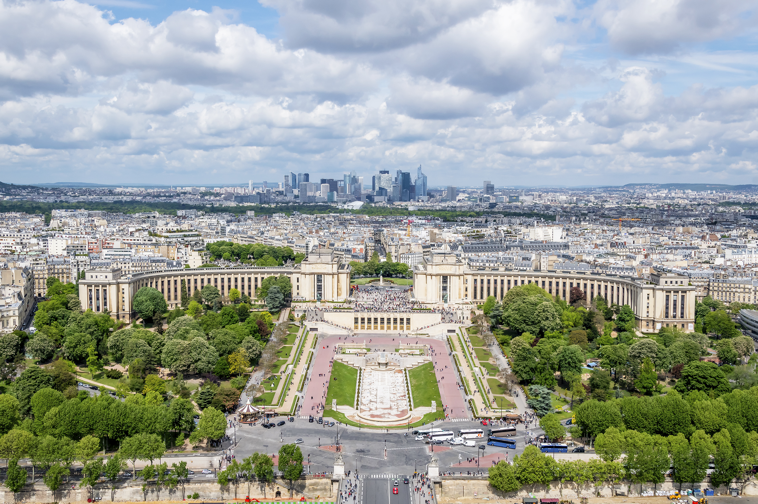 Place du Trocadero from the Eiffel Tower