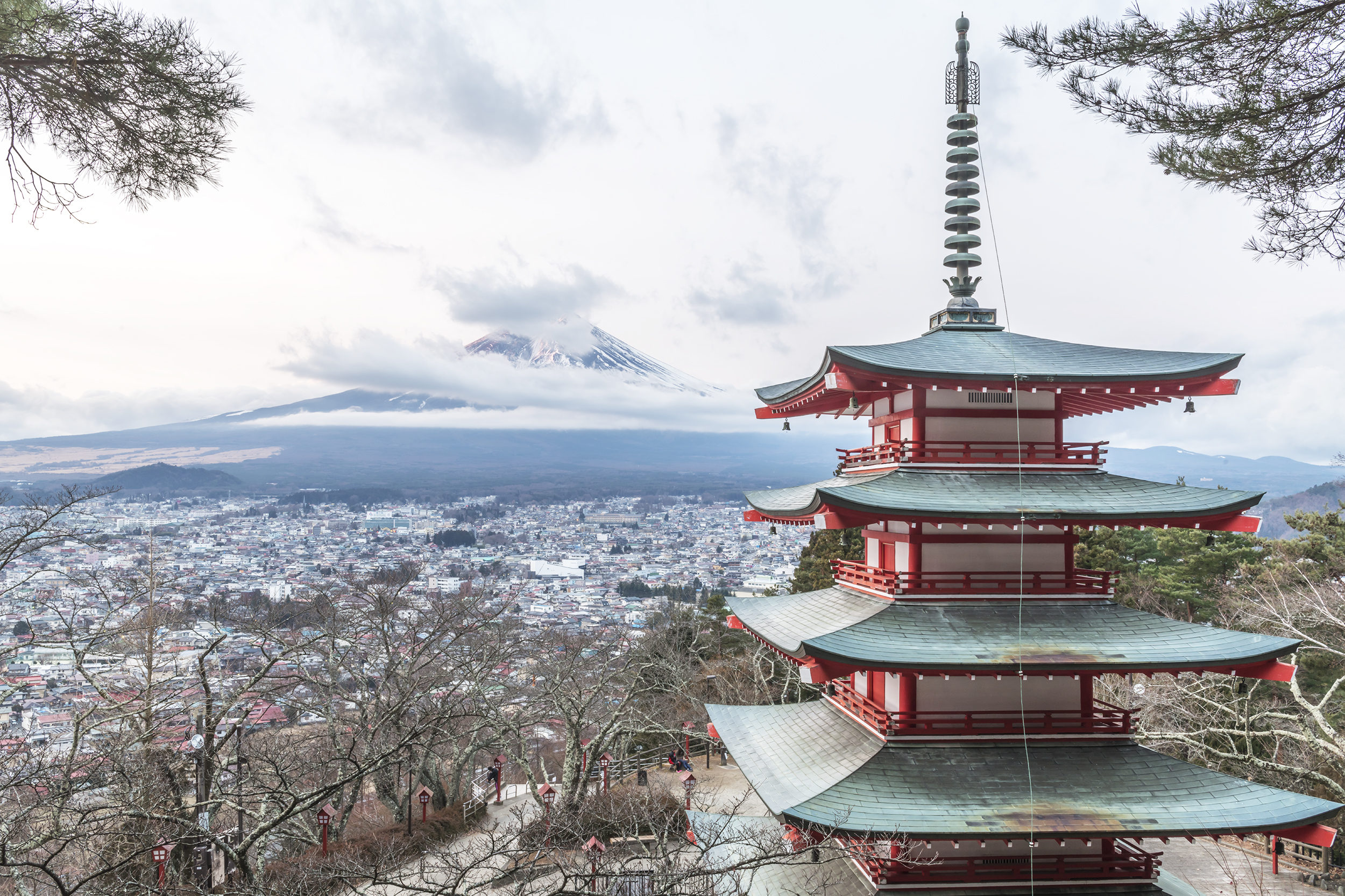 Chureito Pagoda: View of Mount Fuji