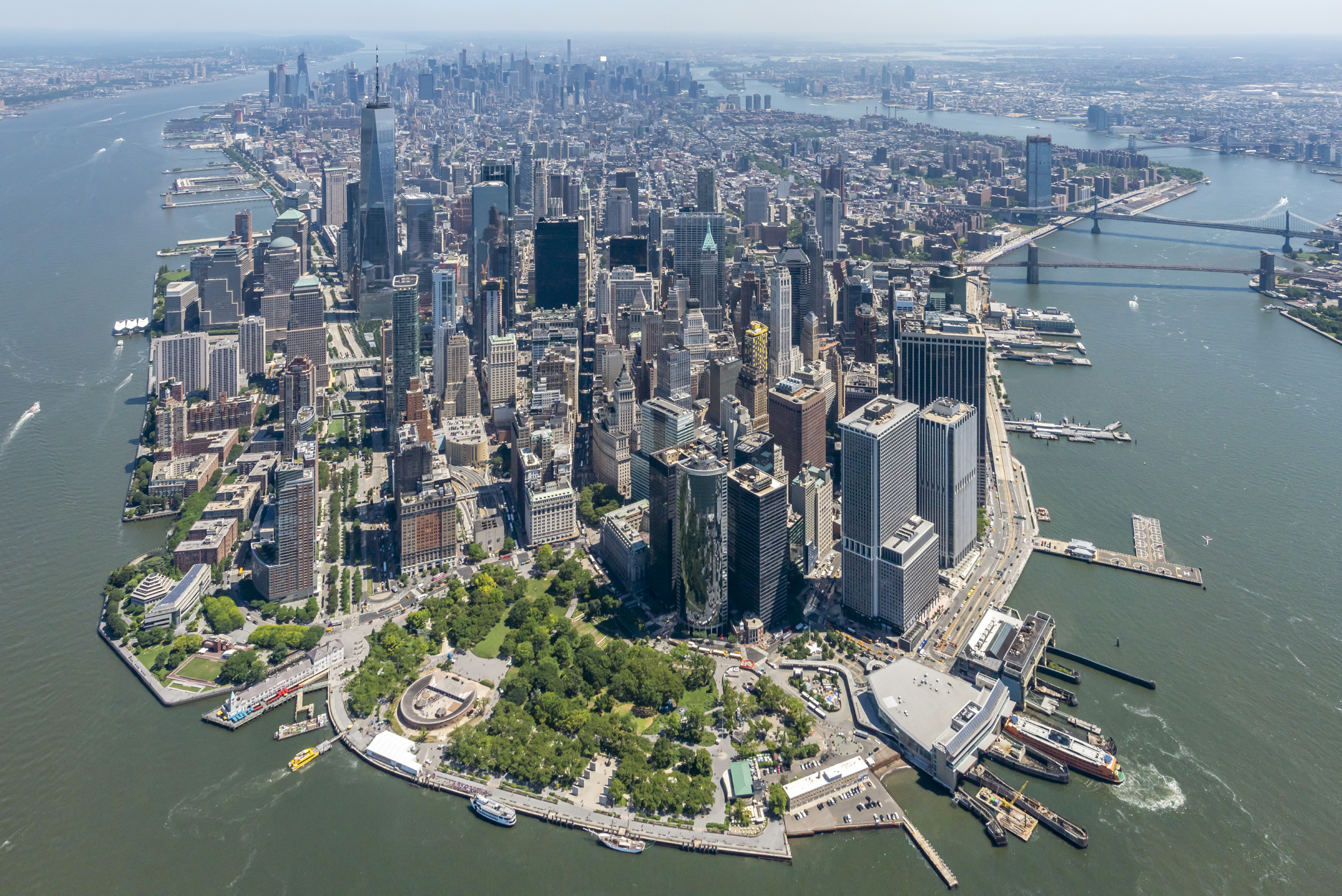 Downtown Manhattan from a Helicopter