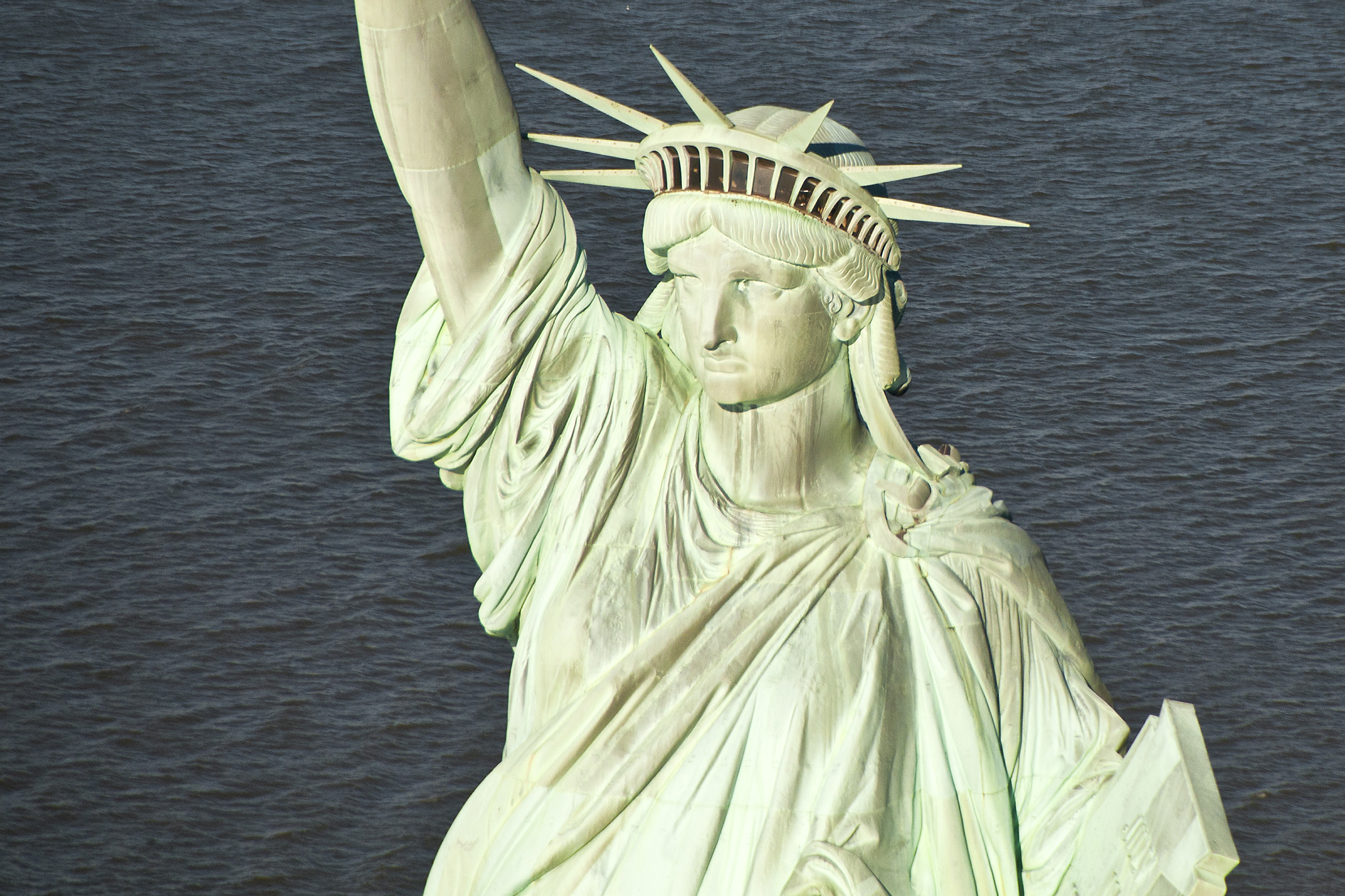 Statue of Liberty by Helicopter
