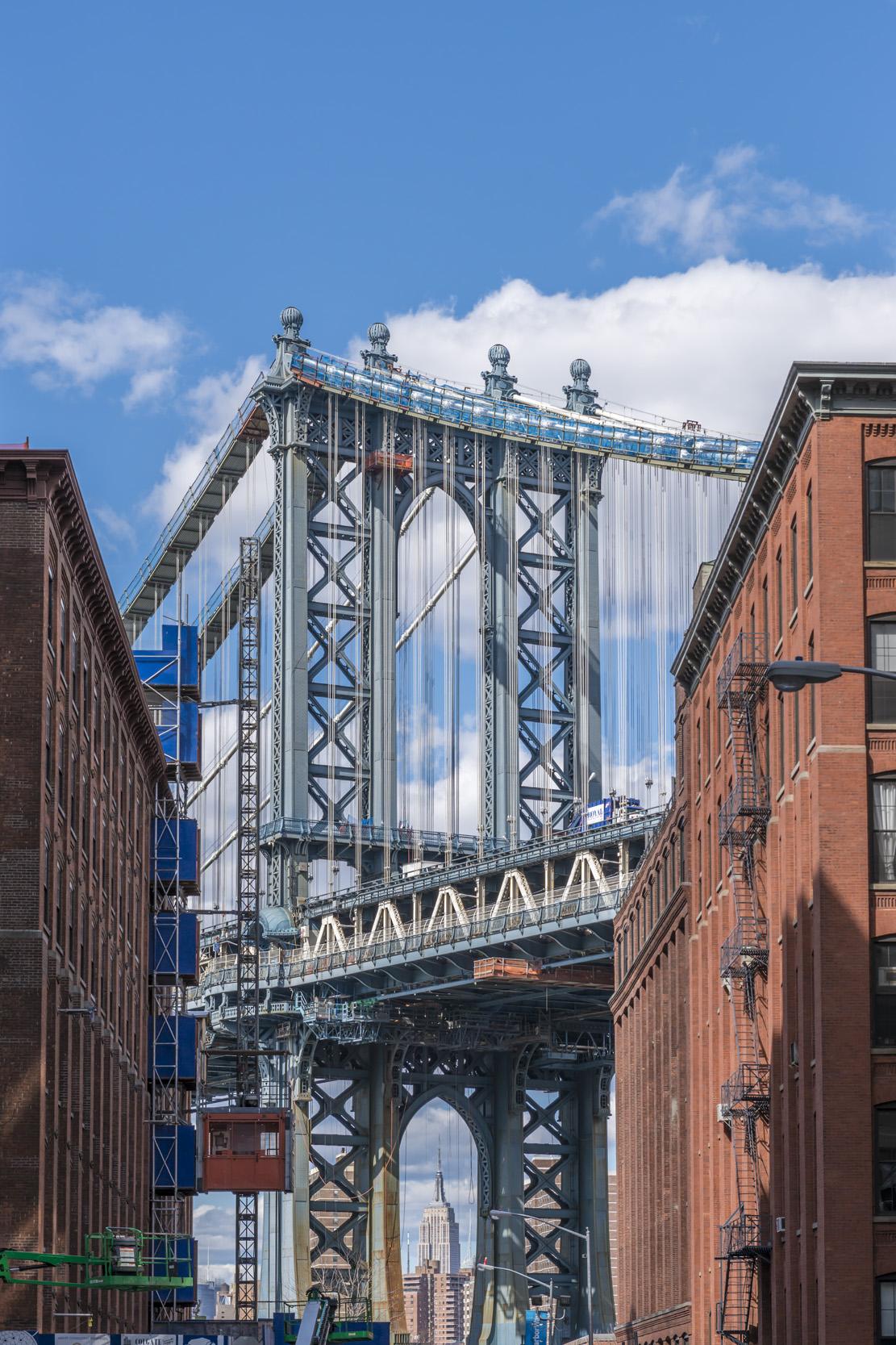 Manhattan Bridge and the Empire St. Building