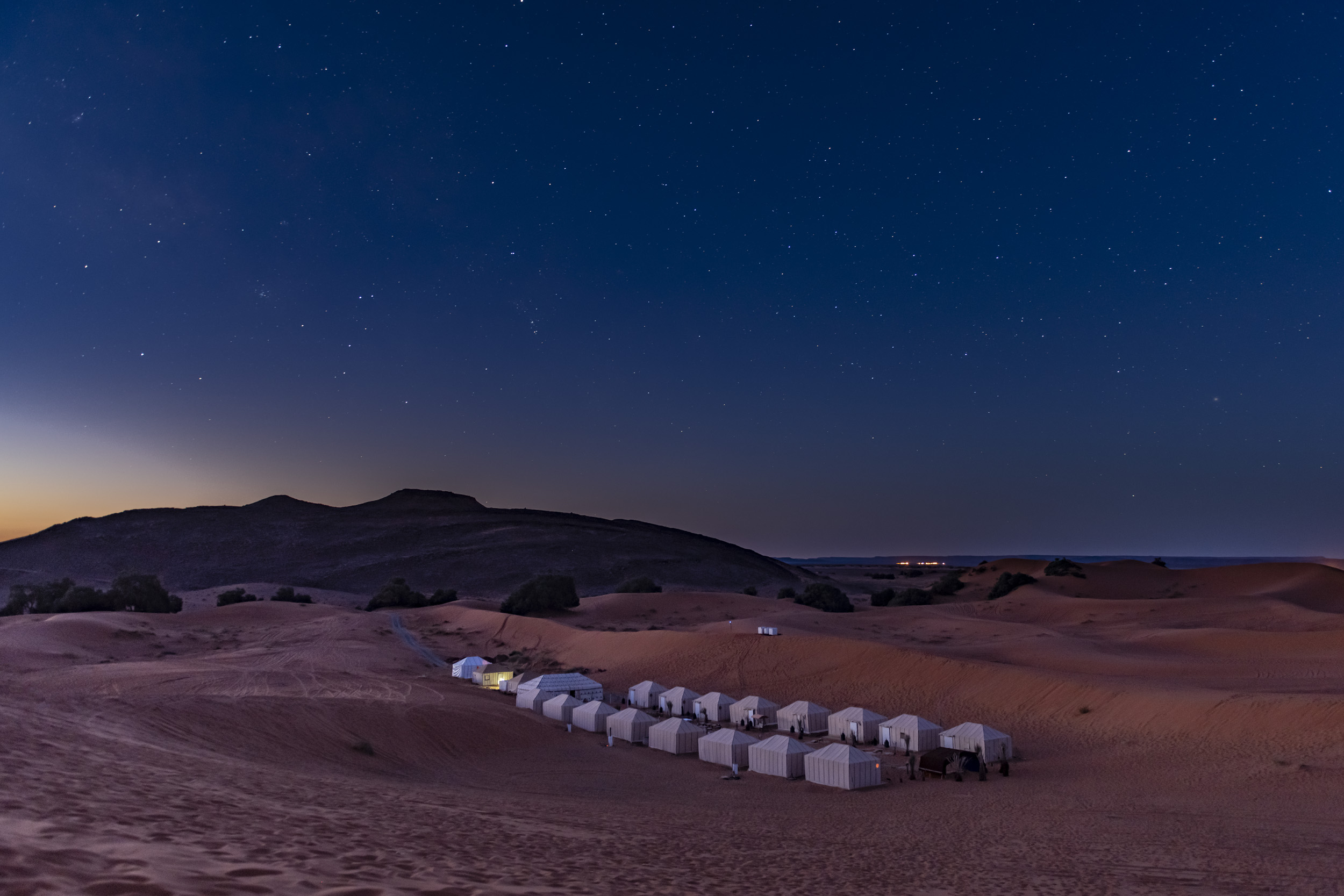 Camping in the Sahara - Morocco