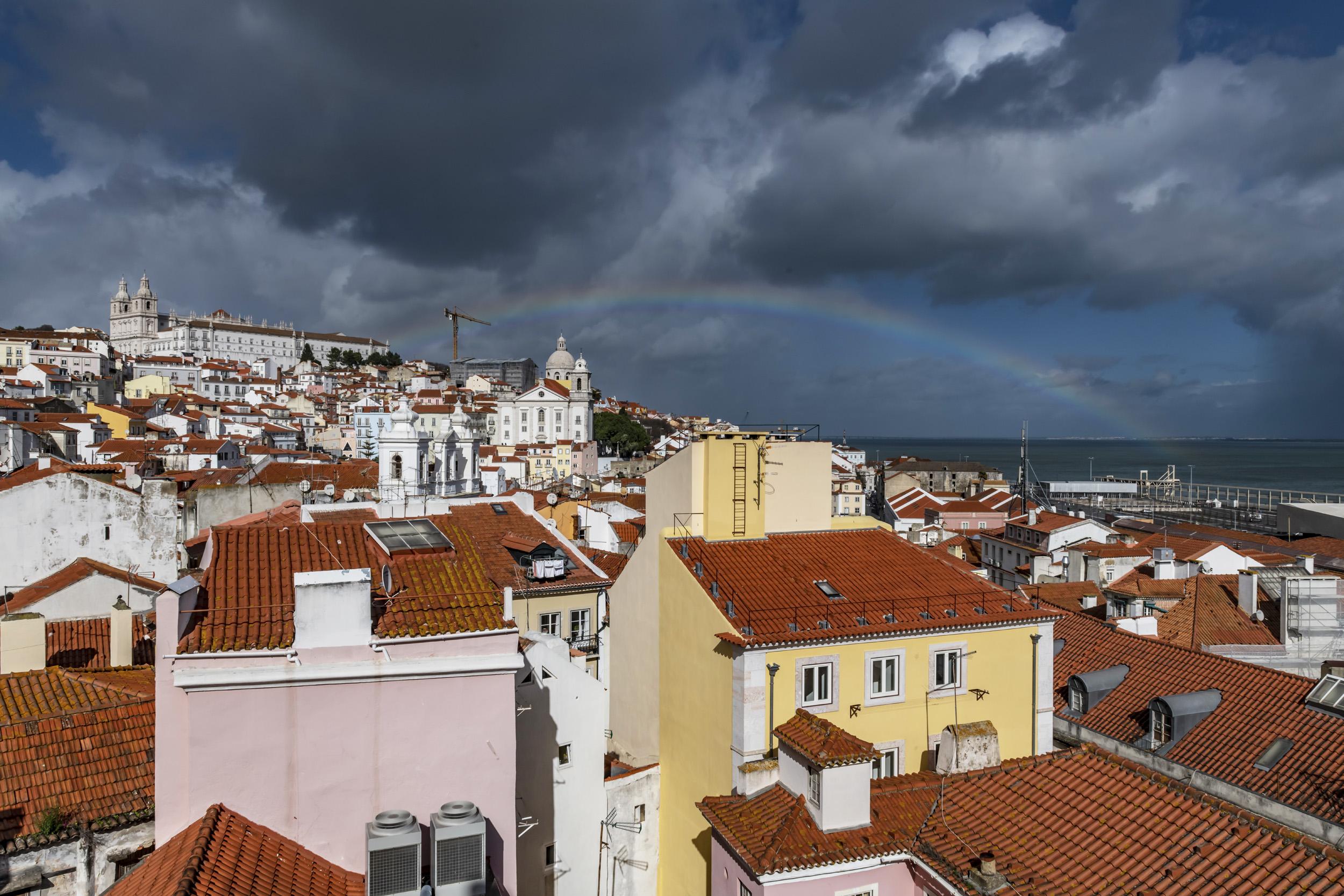 Rainbow over Lisbon - Lisbon, Portugal