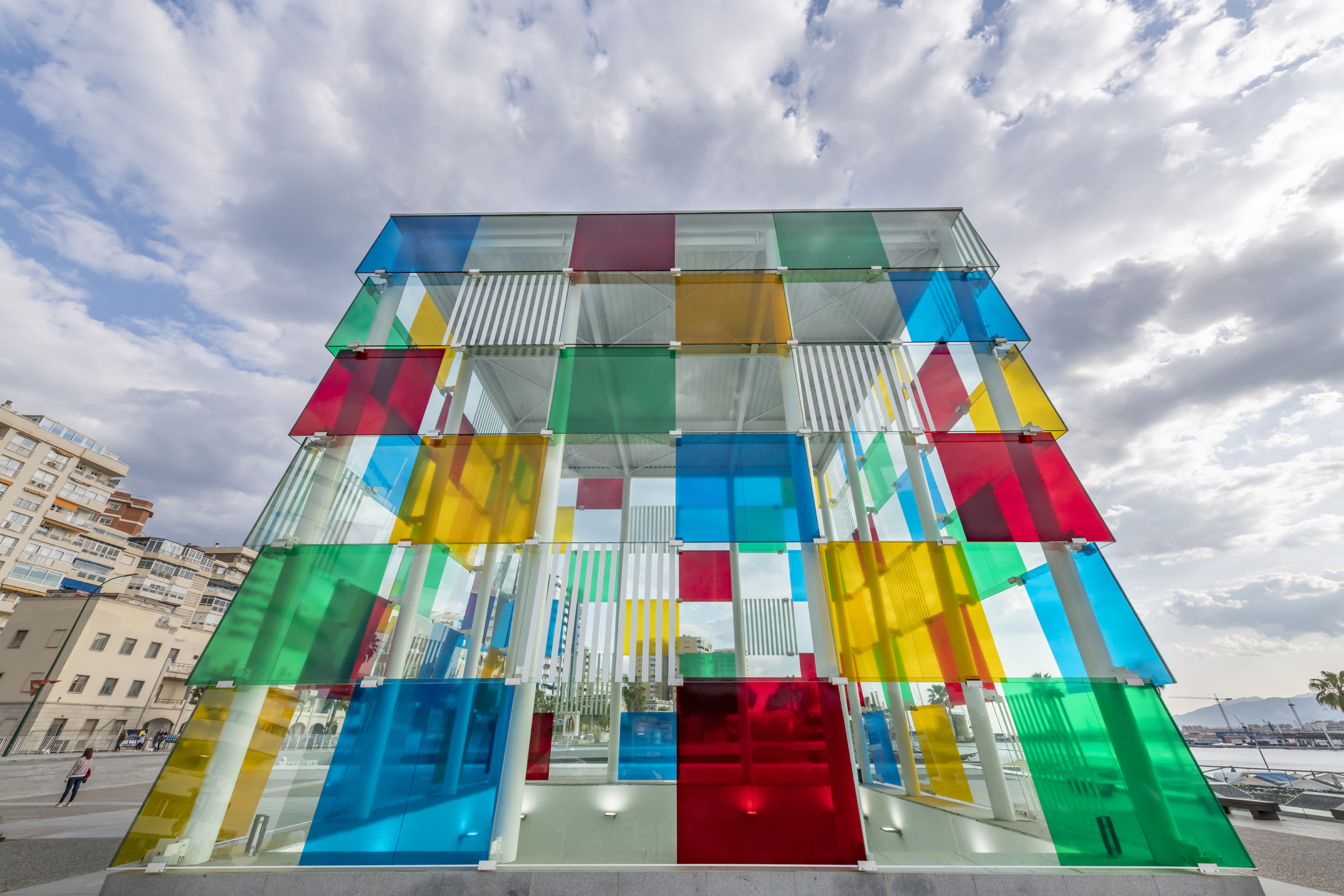 Centre Pompidou Museum building - Malaga, Spain