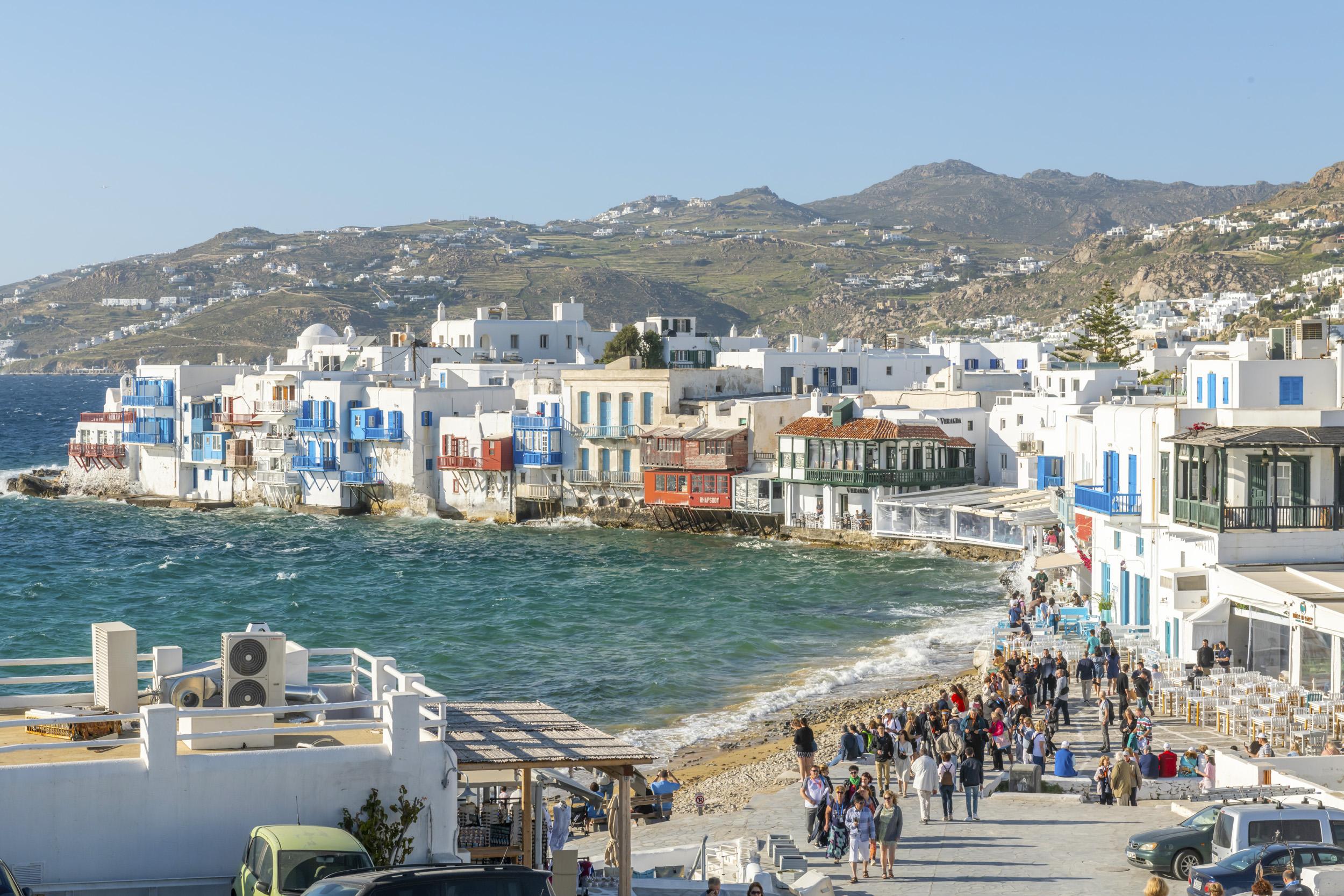 Waterfront of Mykonos - Mykonos, Greece