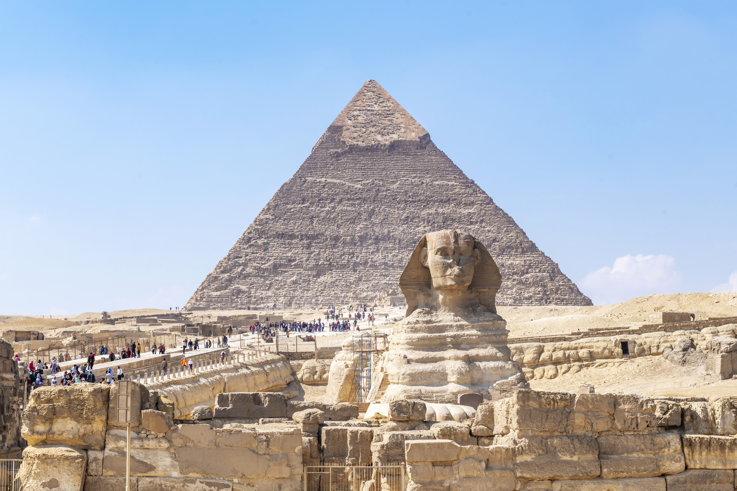 Sphinx and Great Pyramid - Giza, Egypt