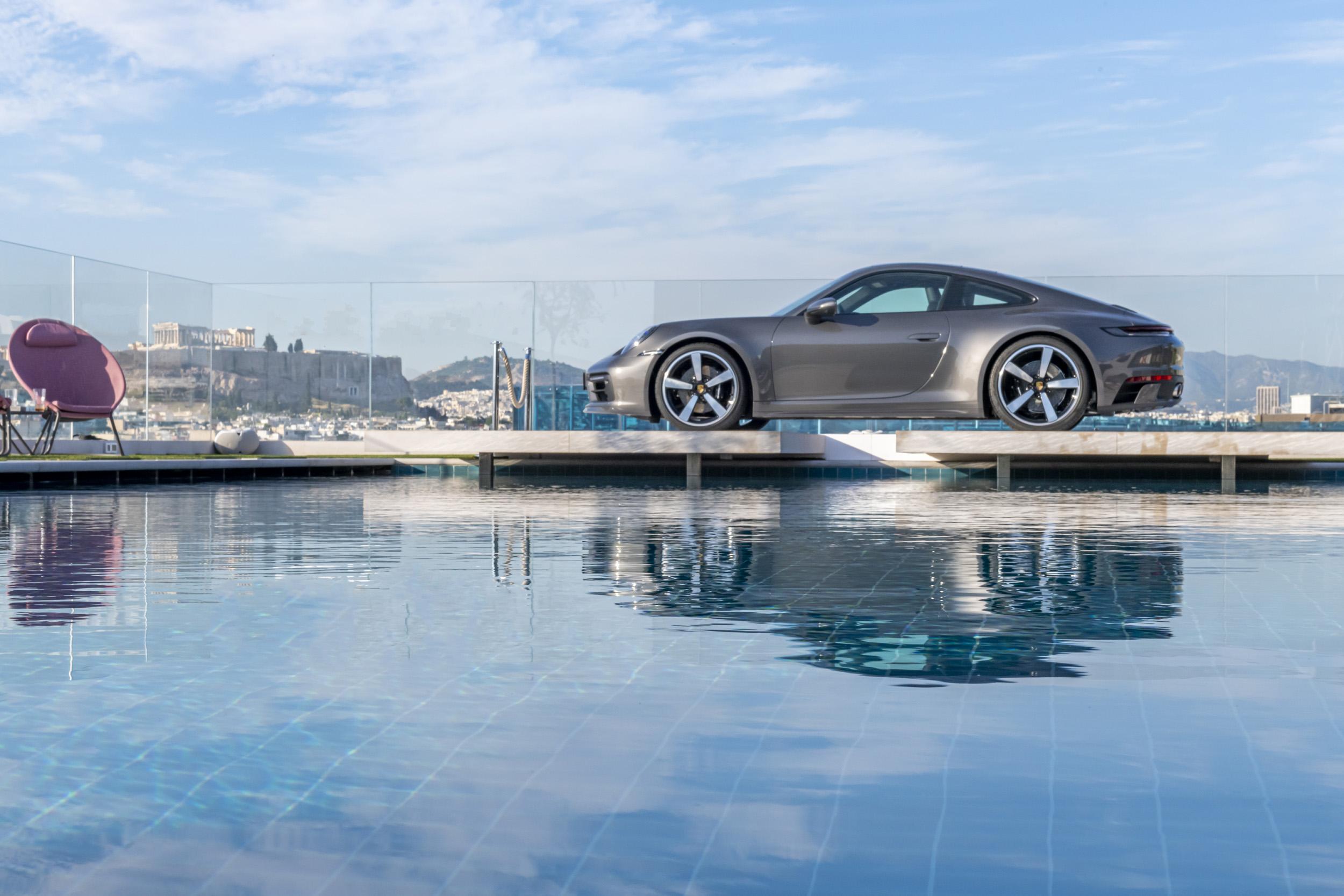 Porsche 911 on Grand Hyatt Hotel - Athens, Greece