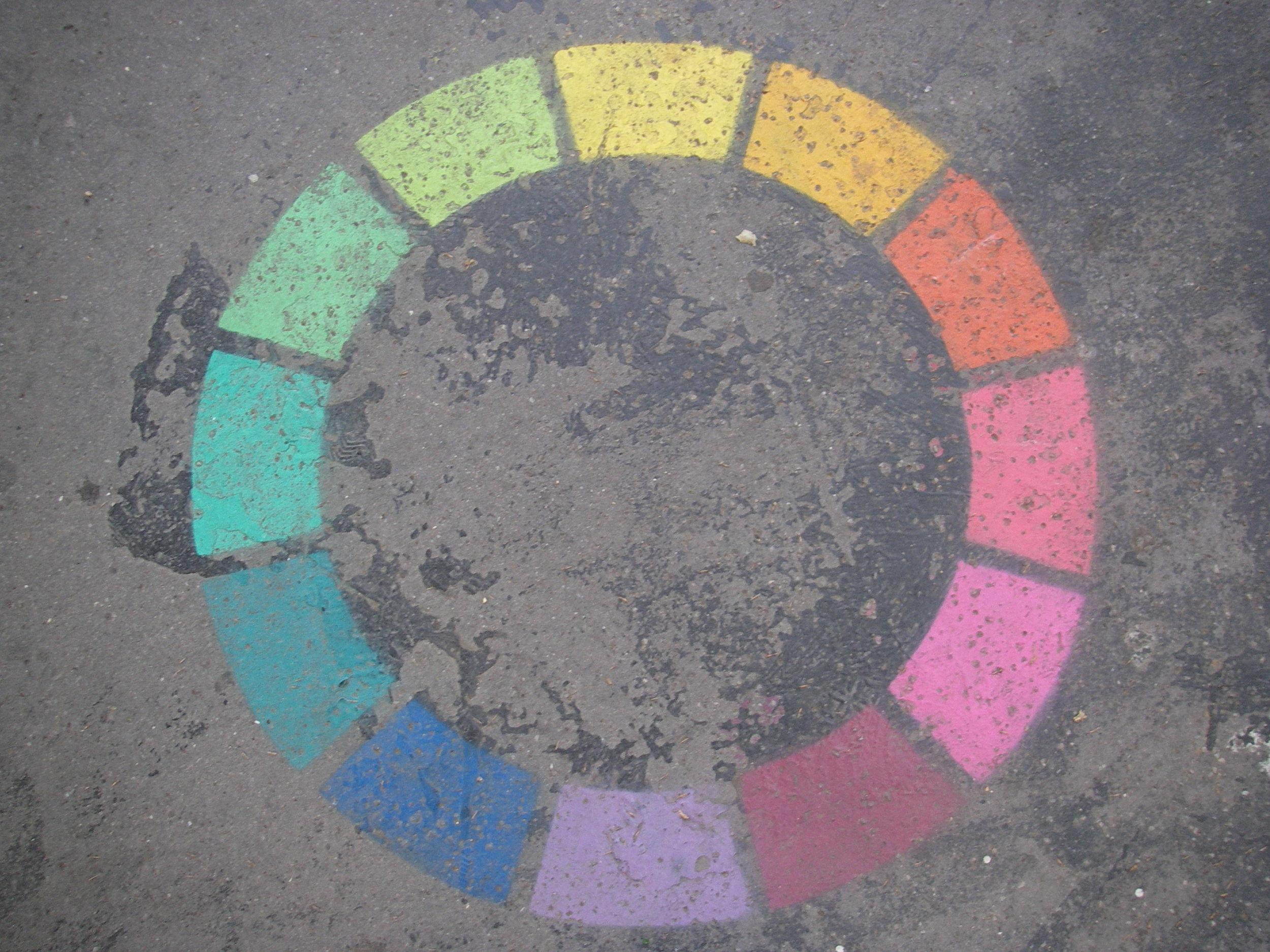a Colorwheel prettiesthe pavement