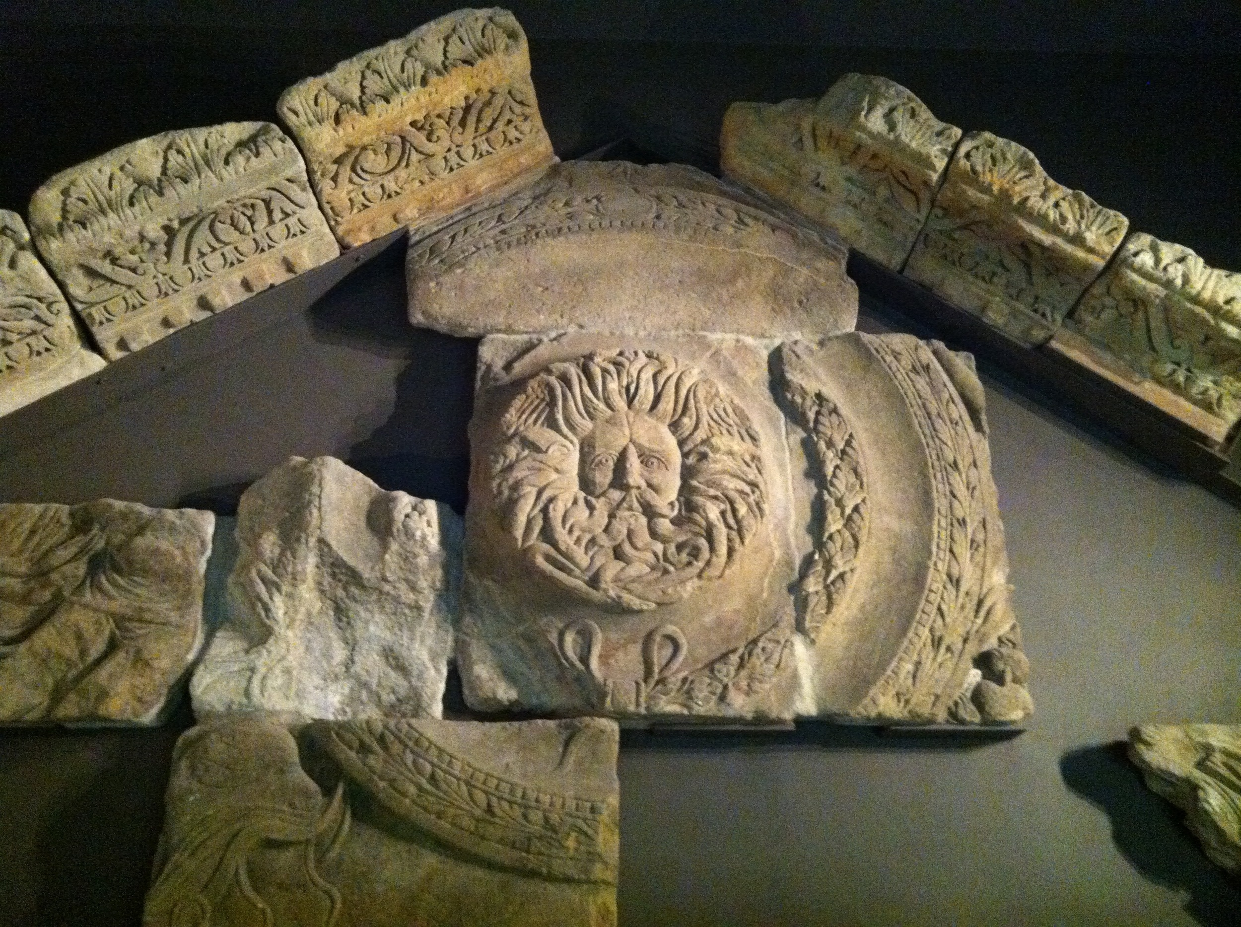 The Gorgon's head from the pediment of the TEmple to Minerva.