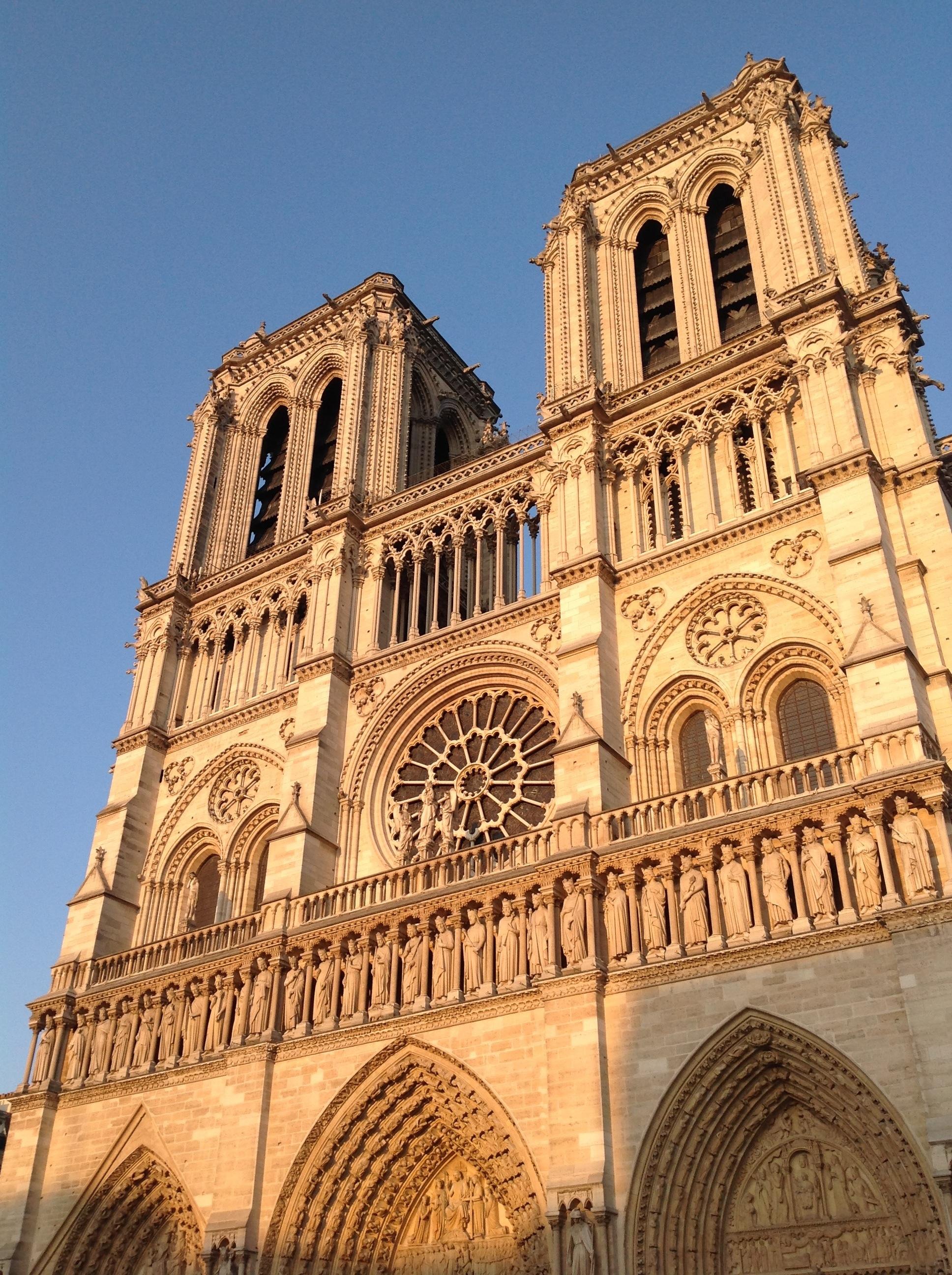 """Notre-Dame de Paris bathed in """"Golden Hour"""" light."""