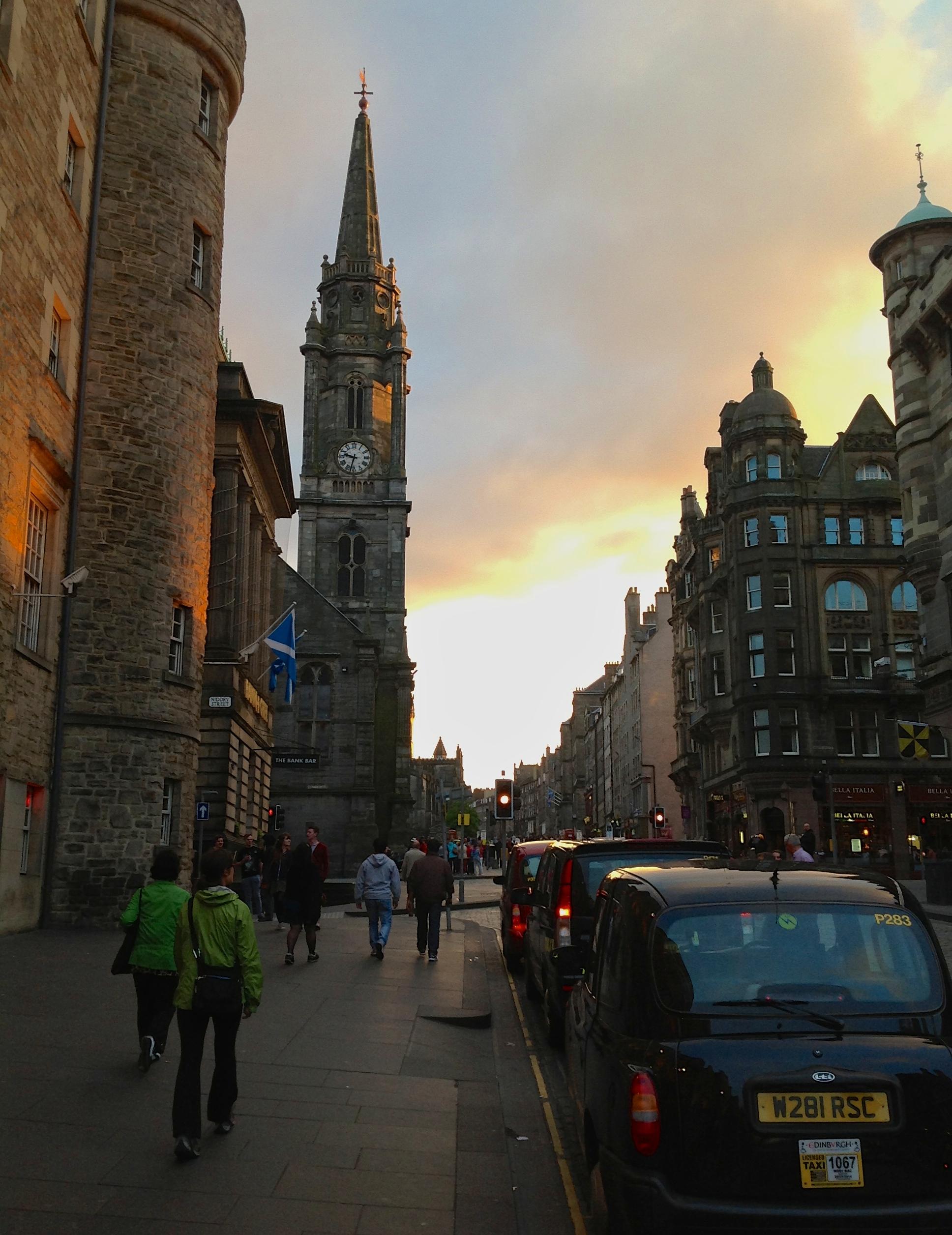 Edinburgh'sRoyal Mile at Sunset