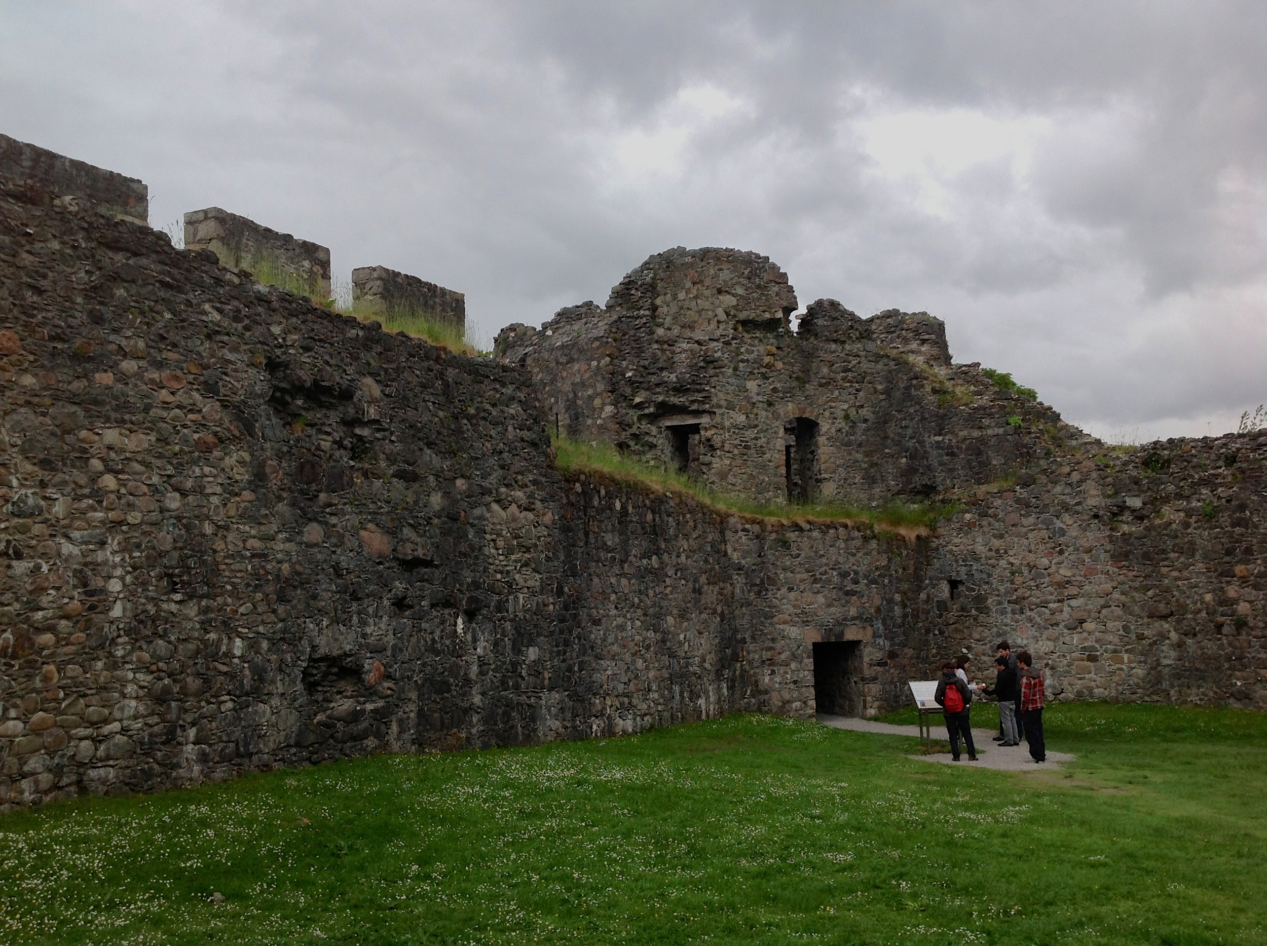 Ruins of Inverlochy Castle — likely Scotland's oldest castle — near Inverlochy and Fort William