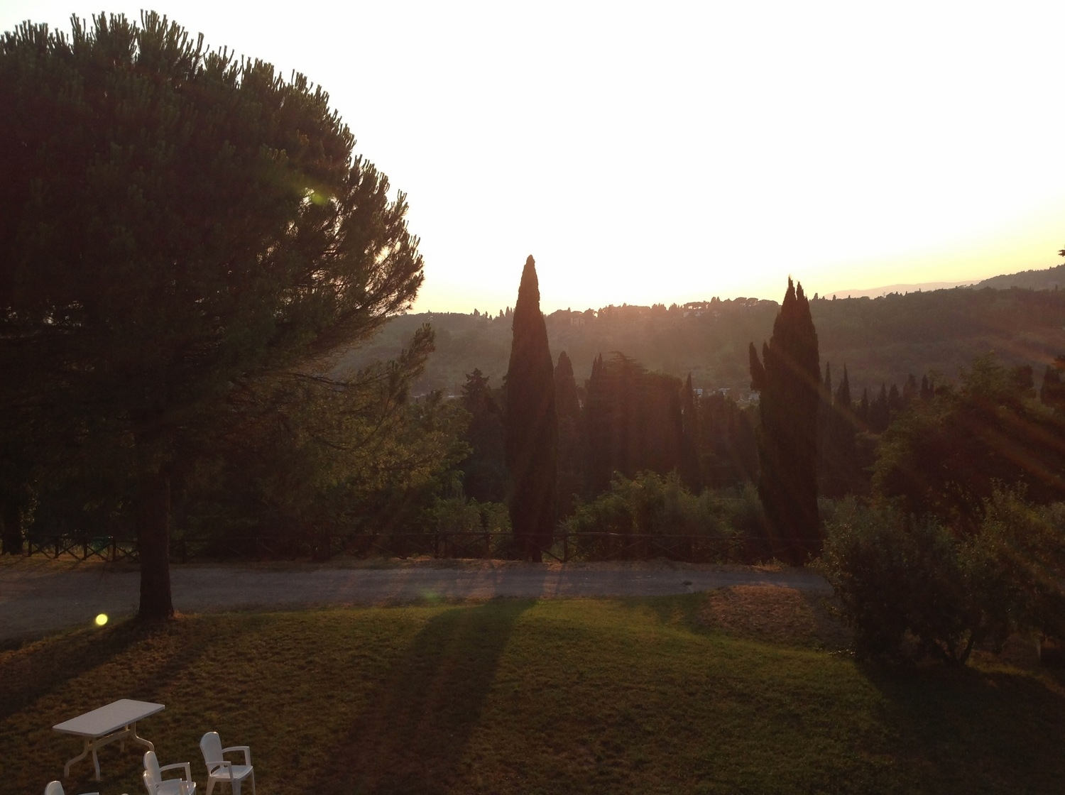 Watching the ITalian sun set from the hills of  San Domenico