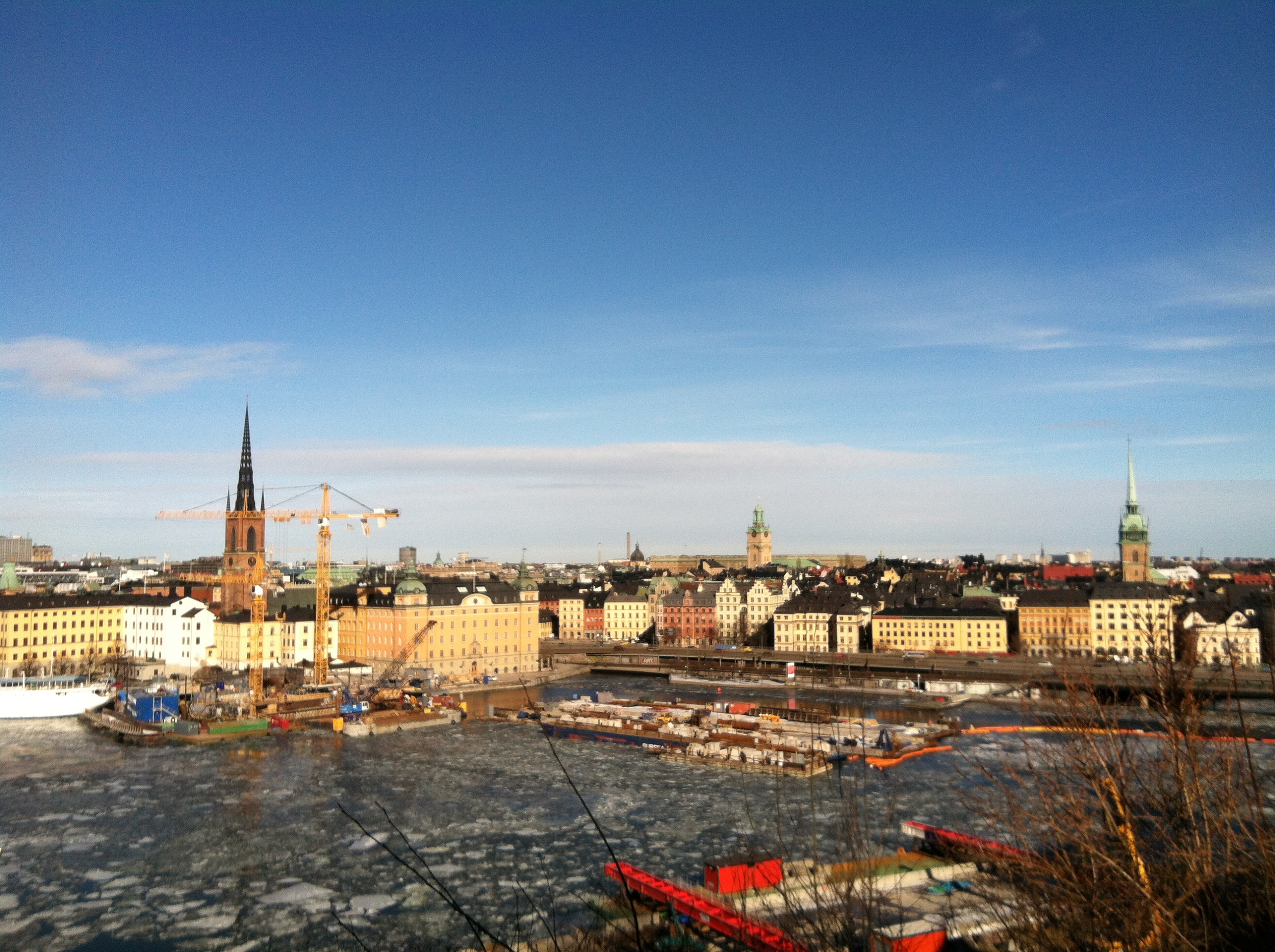 Panoramic view of RIddarholm and Stadsholm from Södermalm