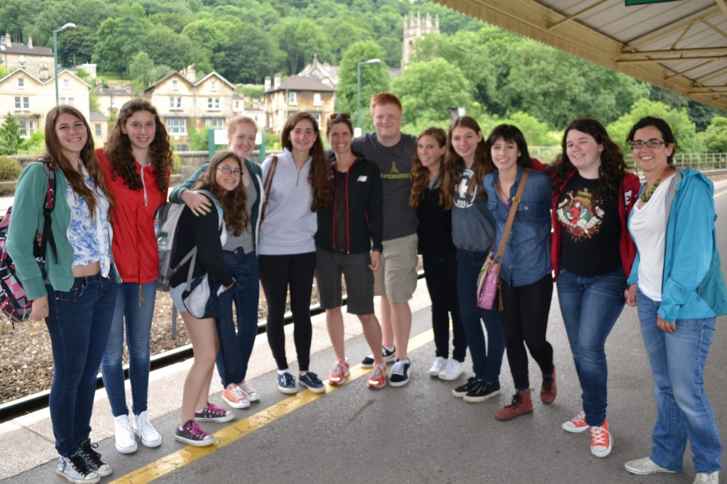 students in bath