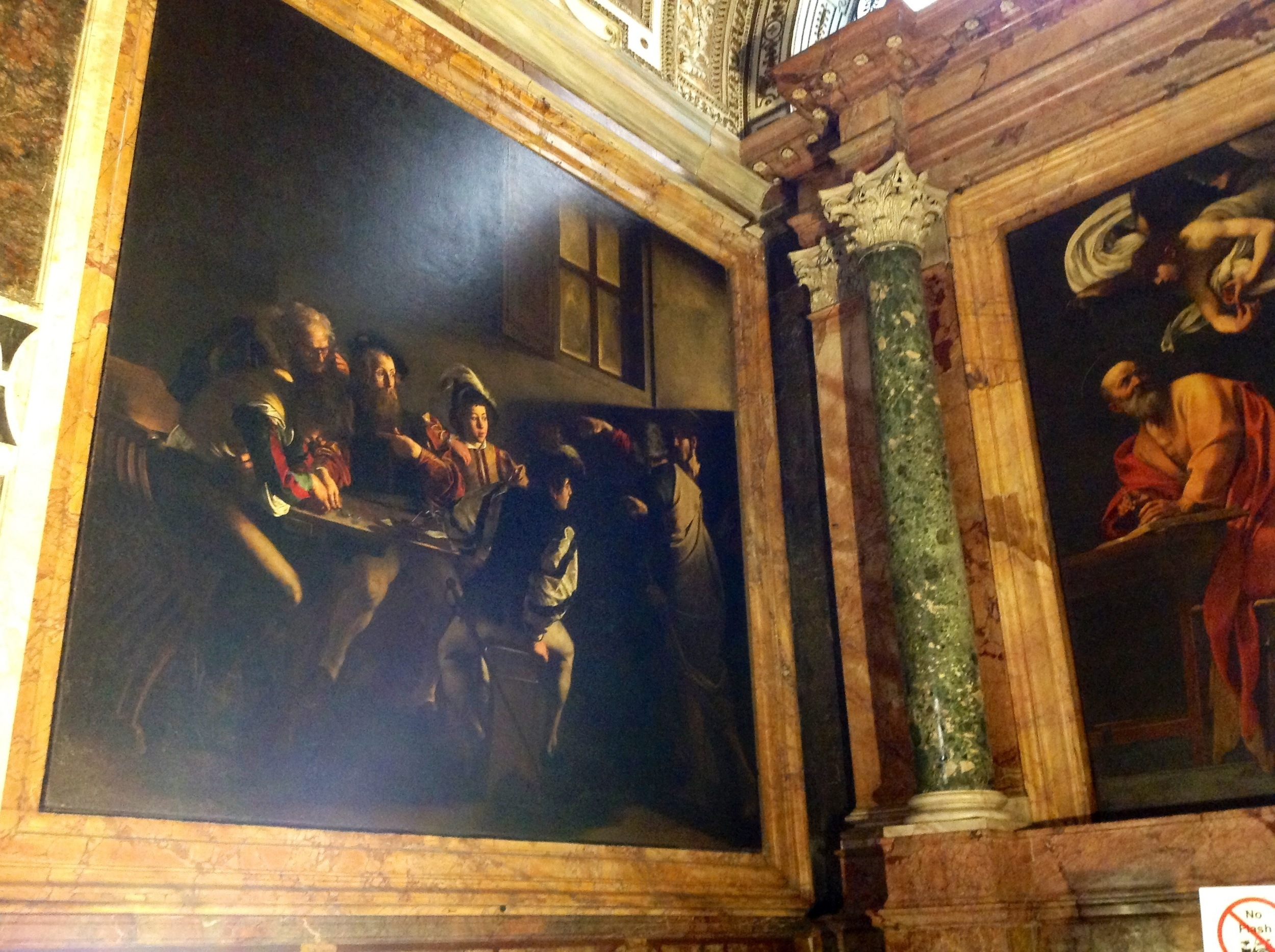The Calling of St. Matthew (and a portion of  The Inspiration of St. Matthew )