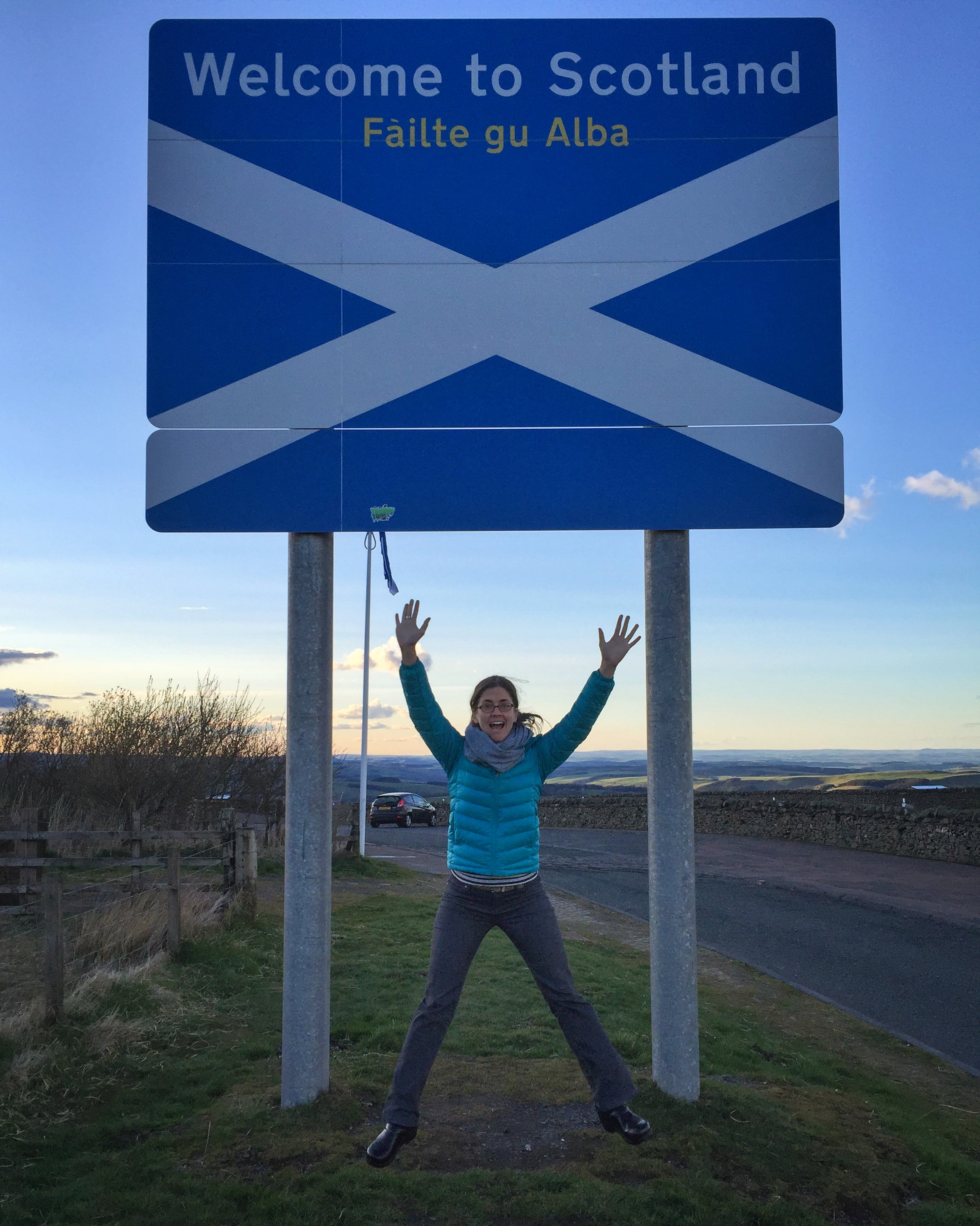 Someone's excited to be back in Scotland!