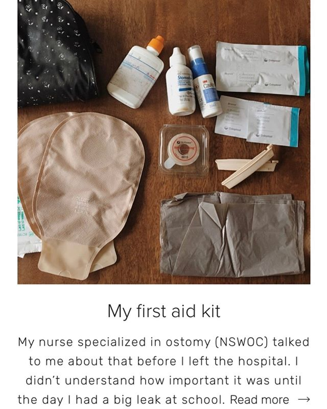 A first aid kit can be used when bad scenarios happen, for example: an ostomy pouch leaks in a public place or away from home, equipment peeling off, defective material, a stool explosion, etc. Well, that kit has us prepared for the worst!  In my first aid kit, we can find: 👉Two sets of skin barriers and ostomy pouches 👉Some plastic bags 👉Scissors 👉Clamps 👉Adhesive bandage tape 👉Personal accessories  Read the entire article on the blog : alternativeana.com/blogue  #ostomy #ostomyblog #blog #positivevibeonly #ibd #invisibleillnessawareness #girlwithbag #rectumcancer